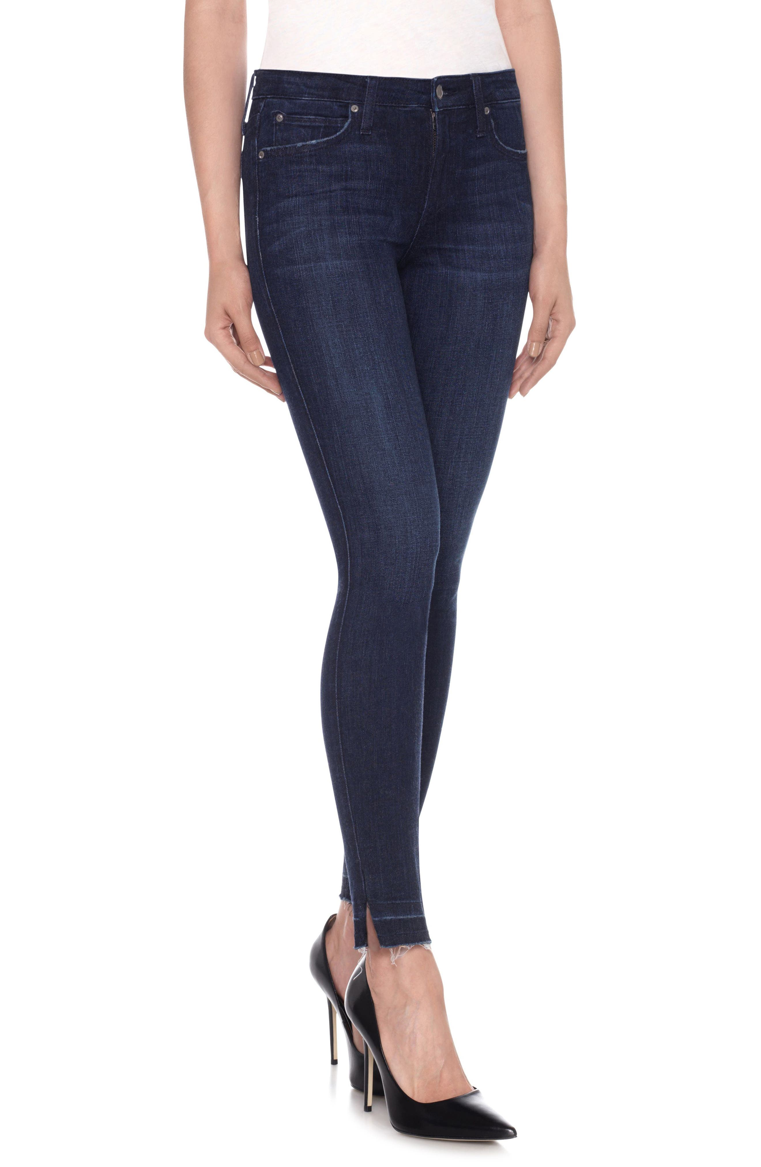 Icon Ankle Release Hem Skinny Jeans,                             Main thumbnail 1, color,                             400