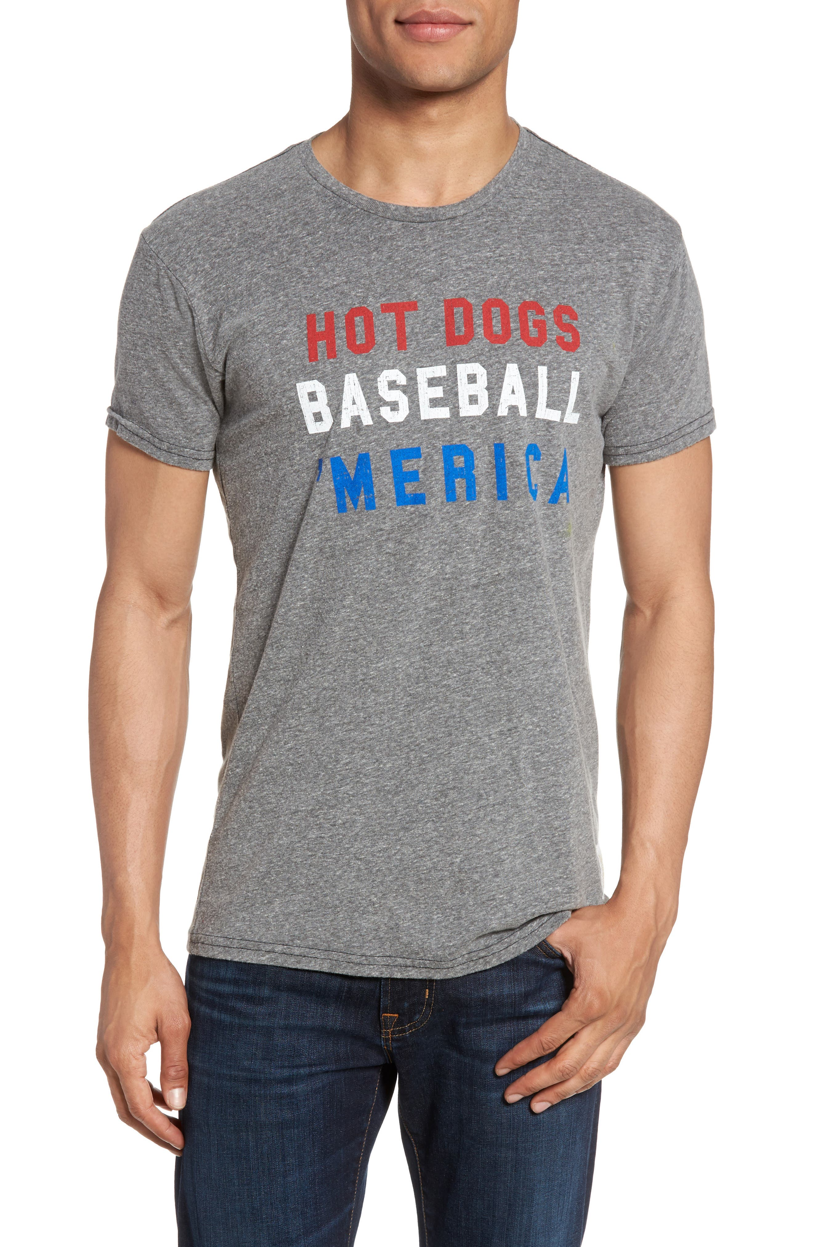 Hot Dogs, Baseball & 'Merica T-Shirt,                         Main,                         color, 020
