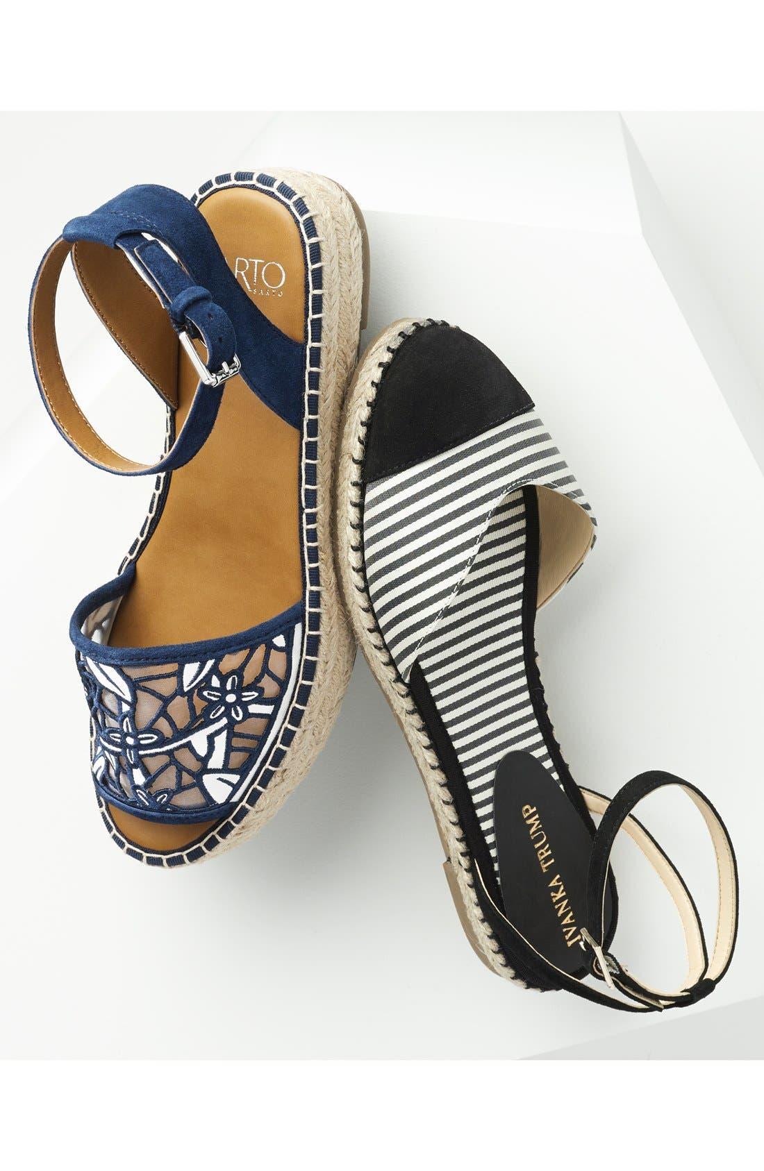 'Ravenna' Espadrille Platform Sandal,                             Alternate thumbnail 6, color,                             003
