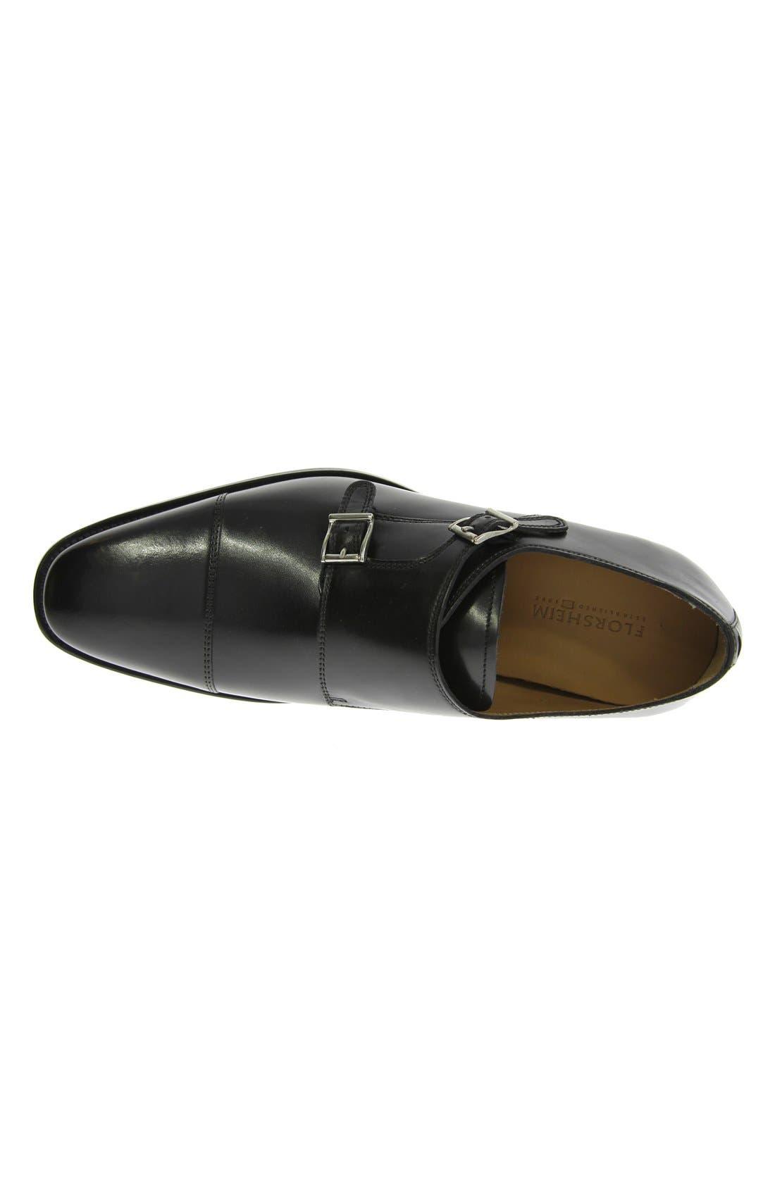 'Sabato' Double Monk Strap Shoe,                             Alternate thumbnail 3, color,                             001