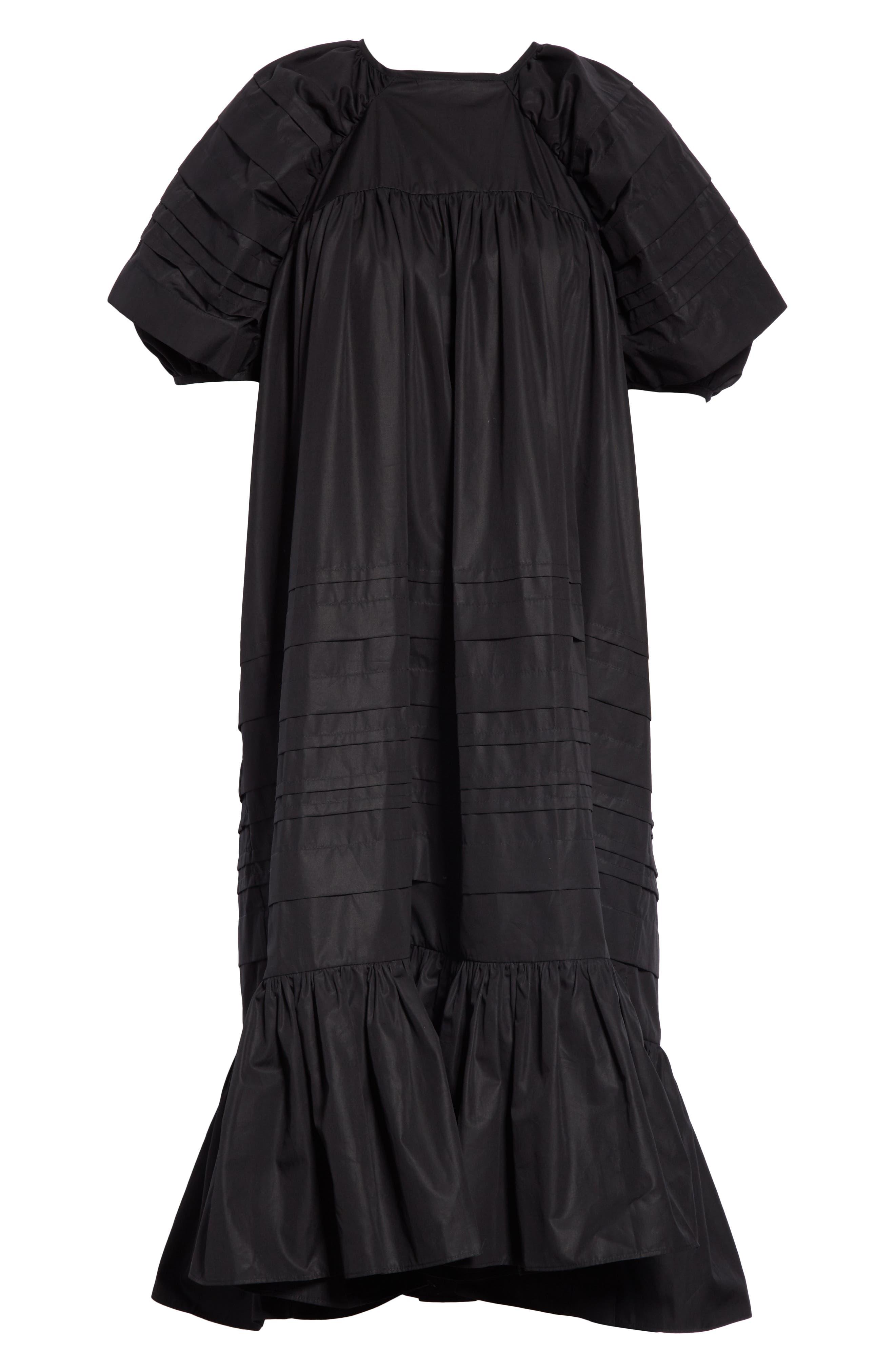 CECILIE BAHNSEN,                             Phoebe Dress,                             Alternate thumbnail 7, color,                             BLACK