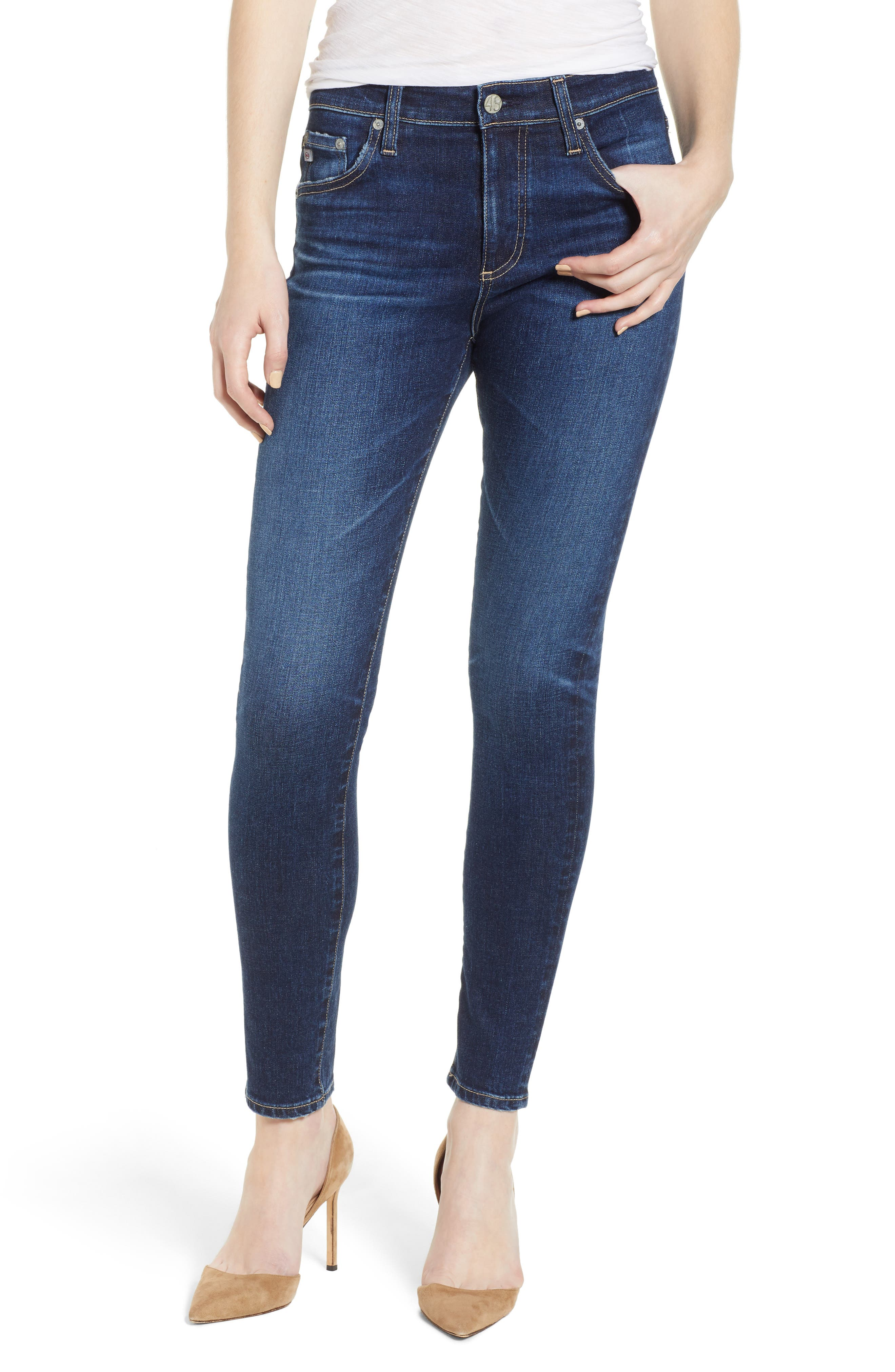 The Farrah Ankle Skinny Jeans,                         Main,                         color, 07 YEARS ASTRO AZURE