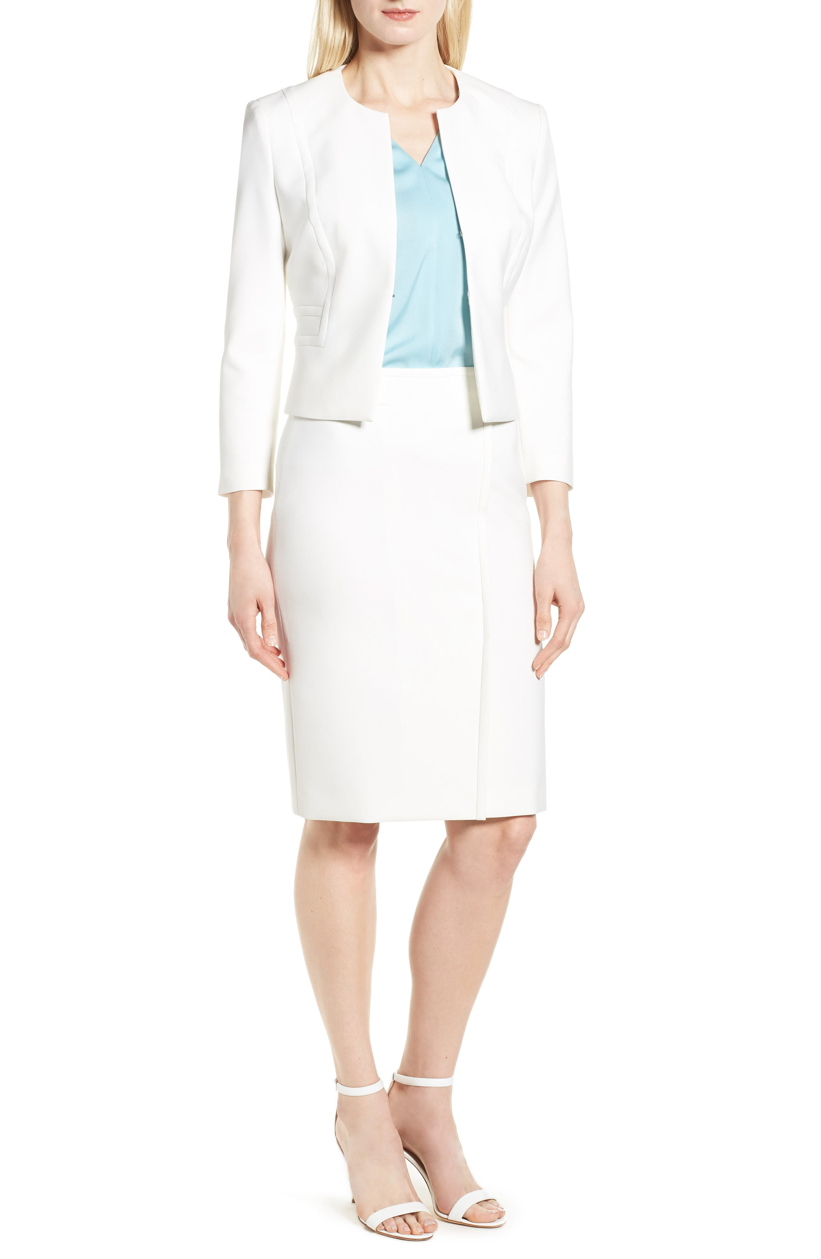 Vadama Ponte Pencil Skirt,                             Alternate thumbnail 7, color,                             112