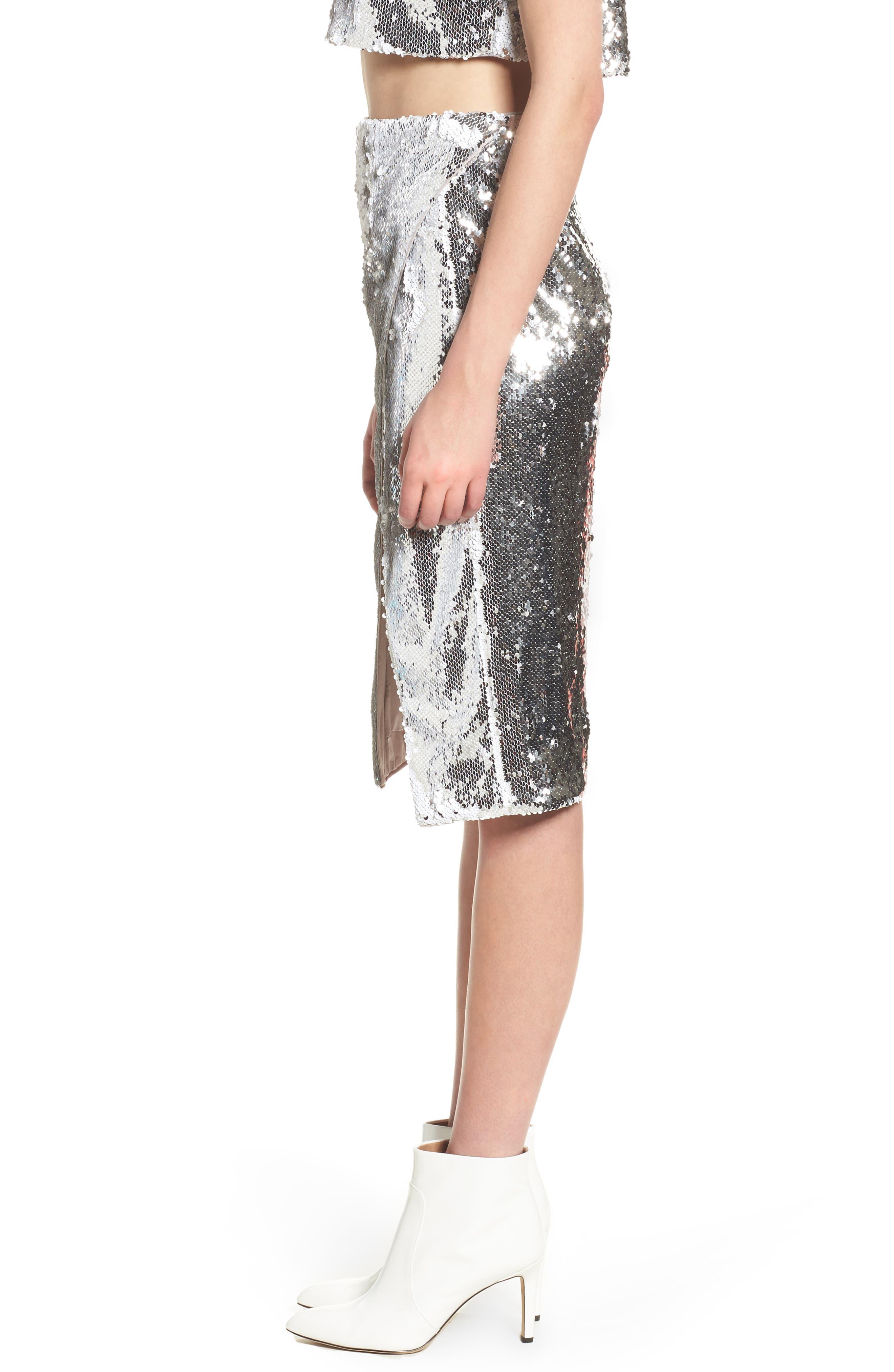 Liana Sequin Skirt,                             Alternate thumbnail 3, color,