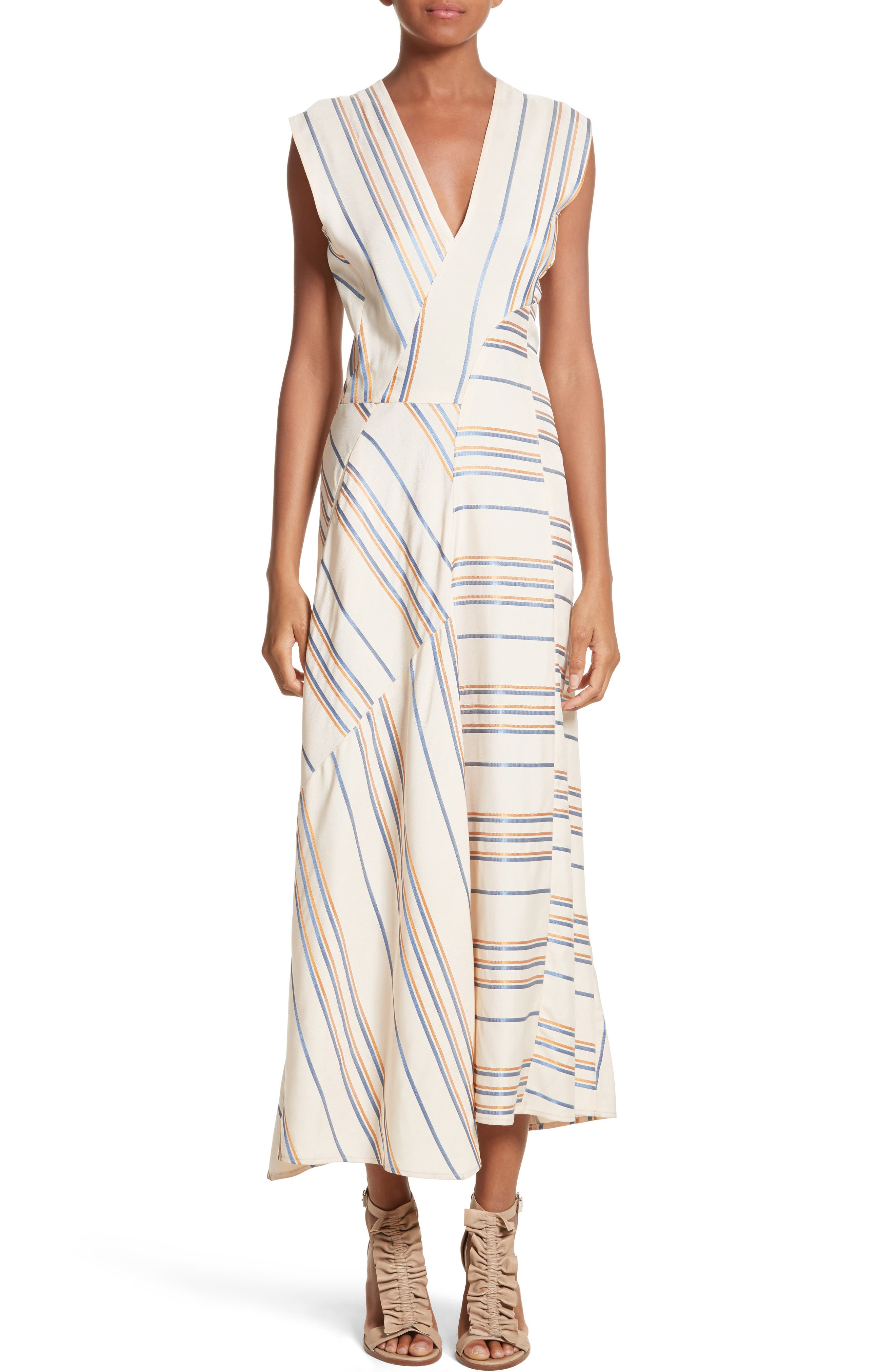 Stripe Midi Dress,                             Main thumbnail 1, color,                             901