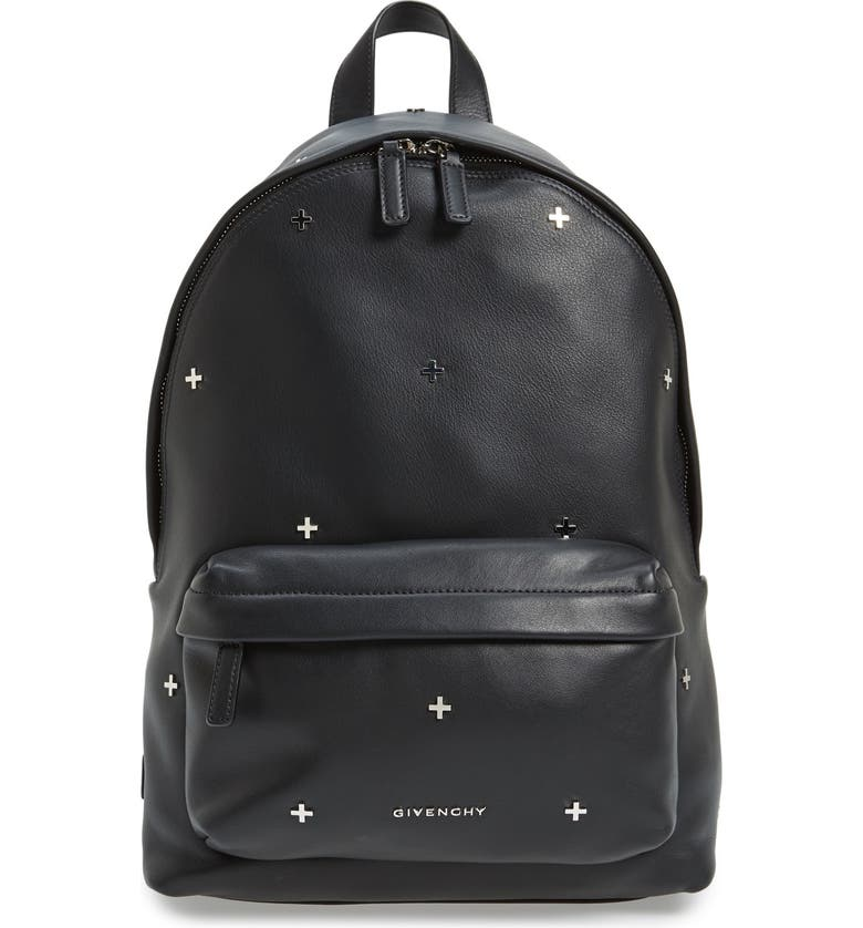 150d98b598d2 Givenchy Metal Cross Embellished Calfskin Leather Backpack