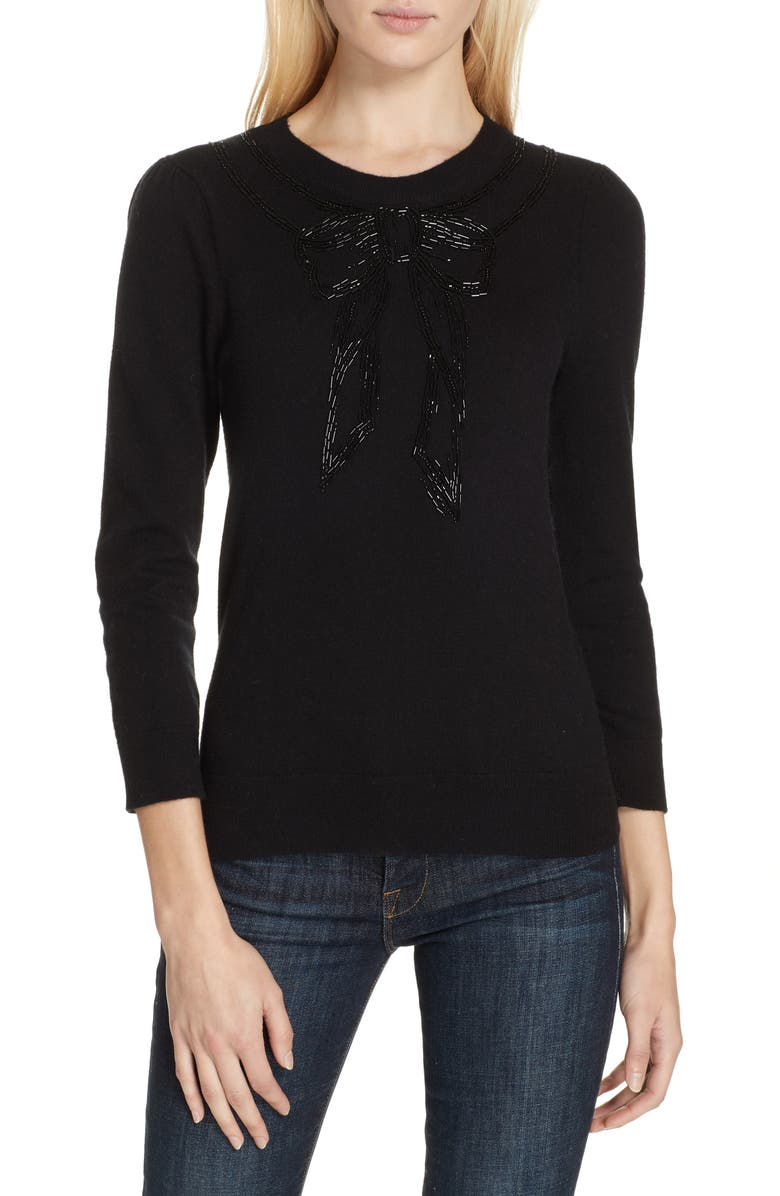 Kate Spade Sweaters BOW EMBELLISHED SWEATER