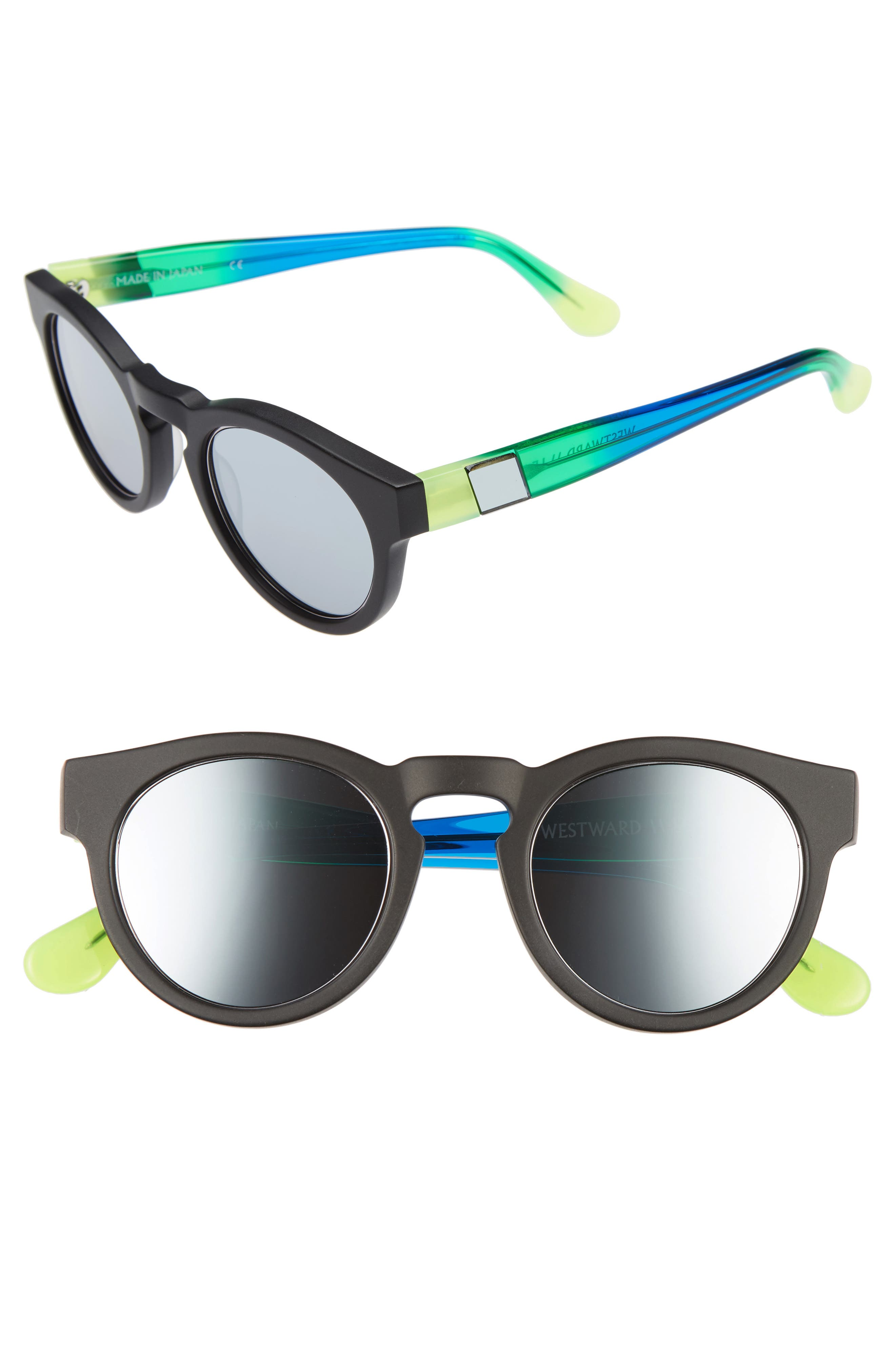 'Voyager' 48mm Sunglasses,                             Main thumbnail 1, color,                             001