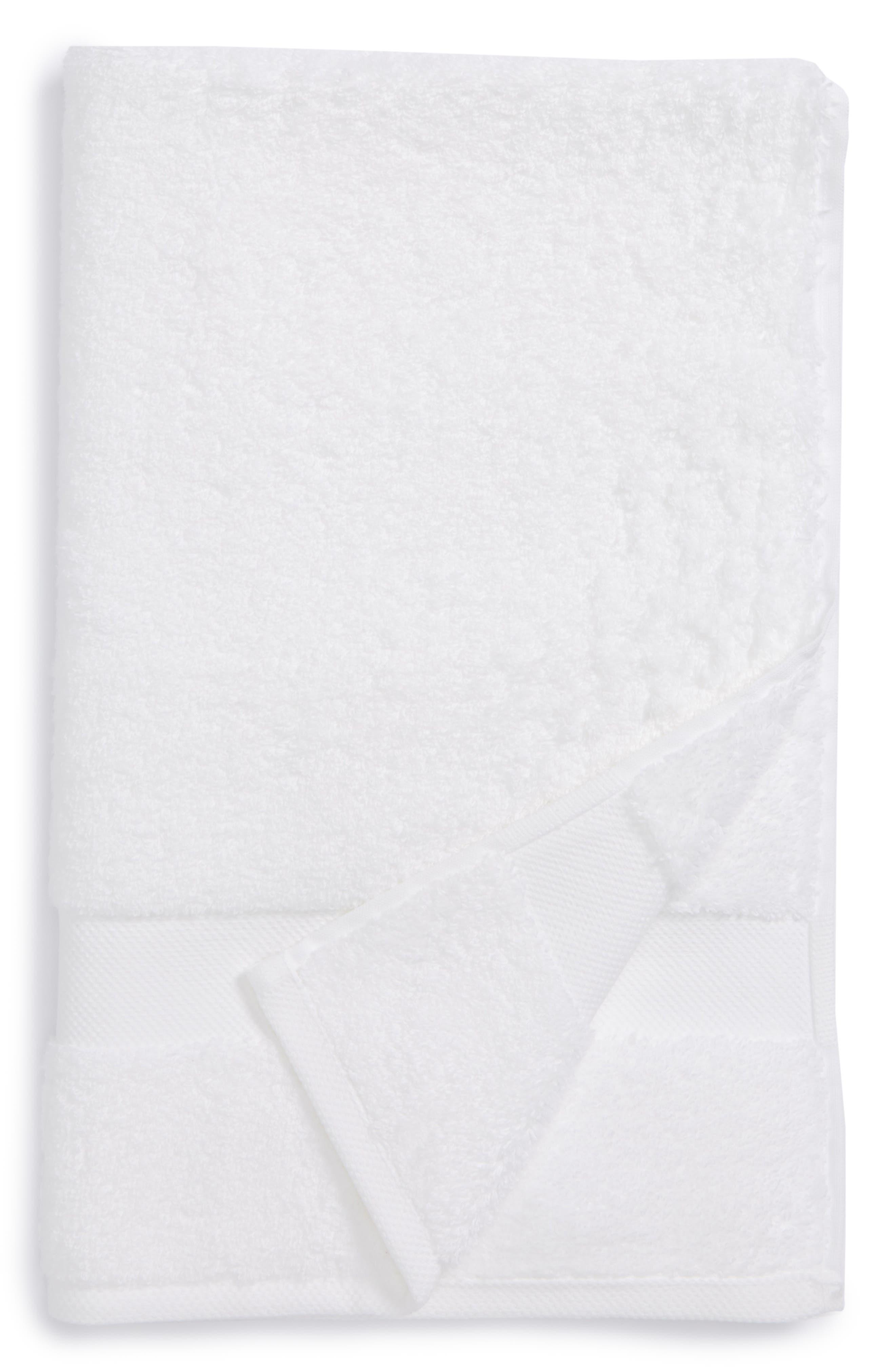 Lotus Hand Towel,                             Main thumbnail 1, color,                             WHITE