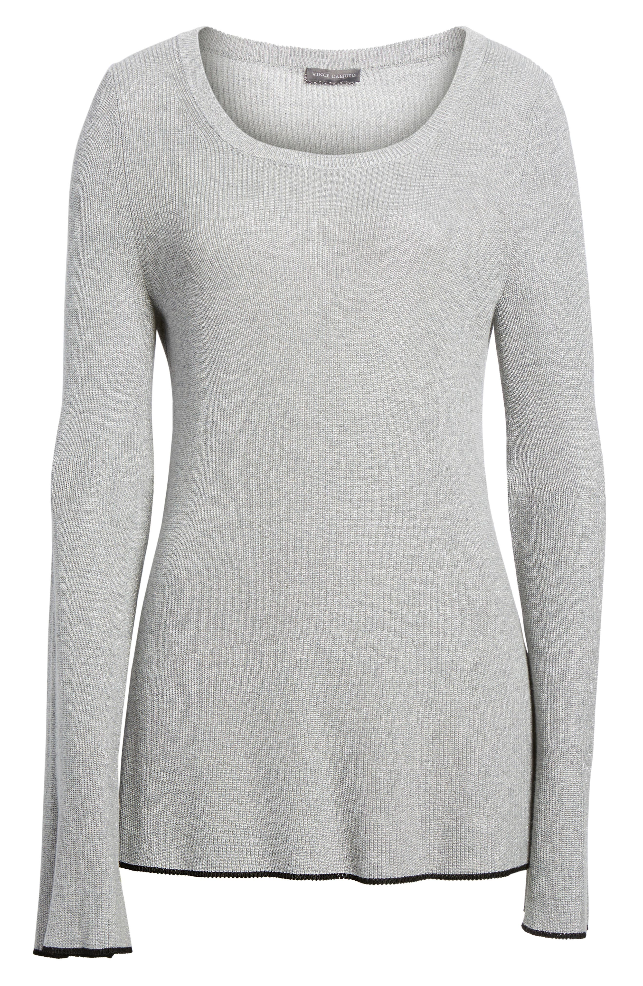 Tipped Bell Sleeve Sweater,                             Alternate thumbnail 37, color,