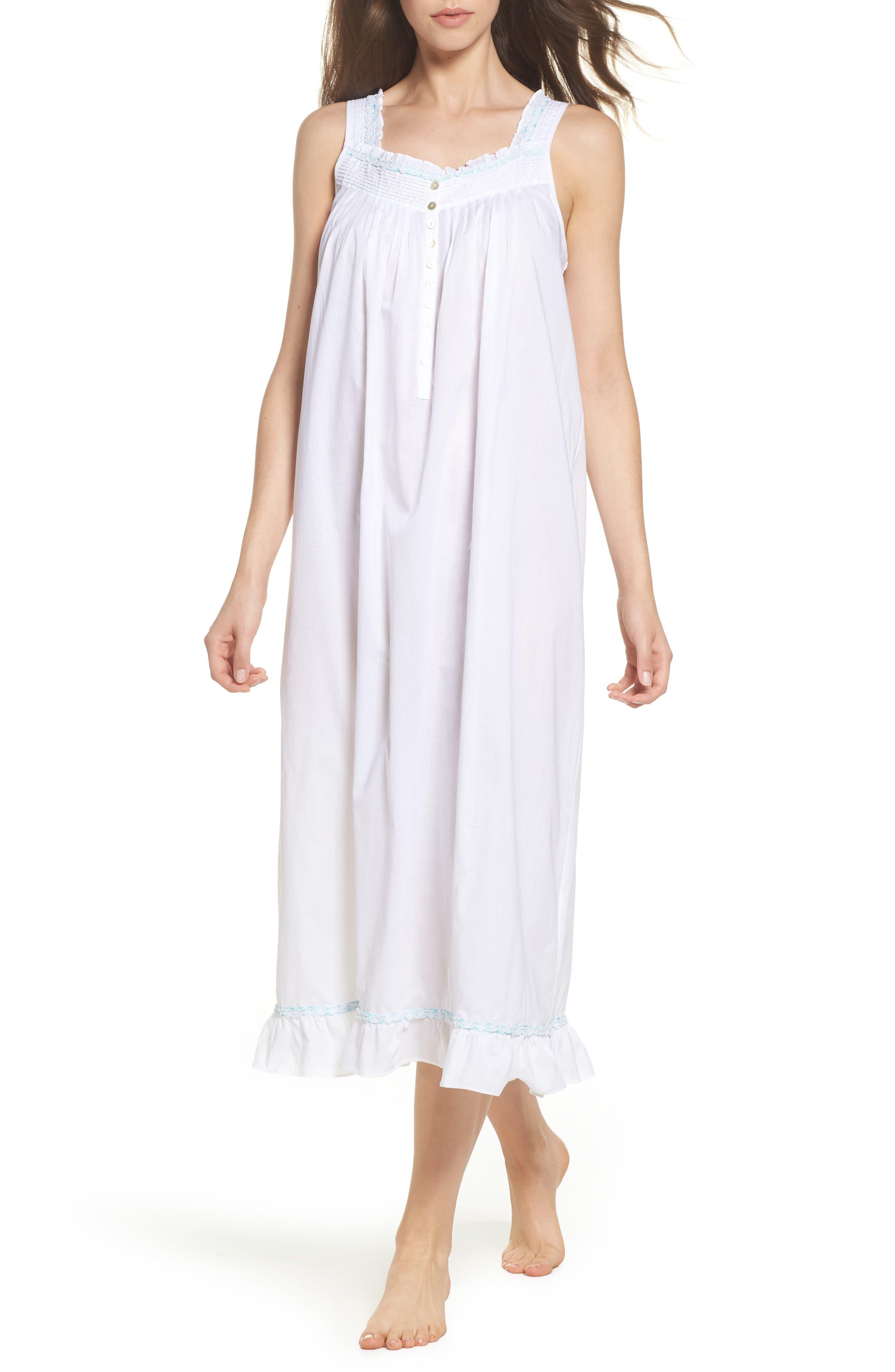Cotton Lawn Ballet Nightgown,                         Main,                         color, 100