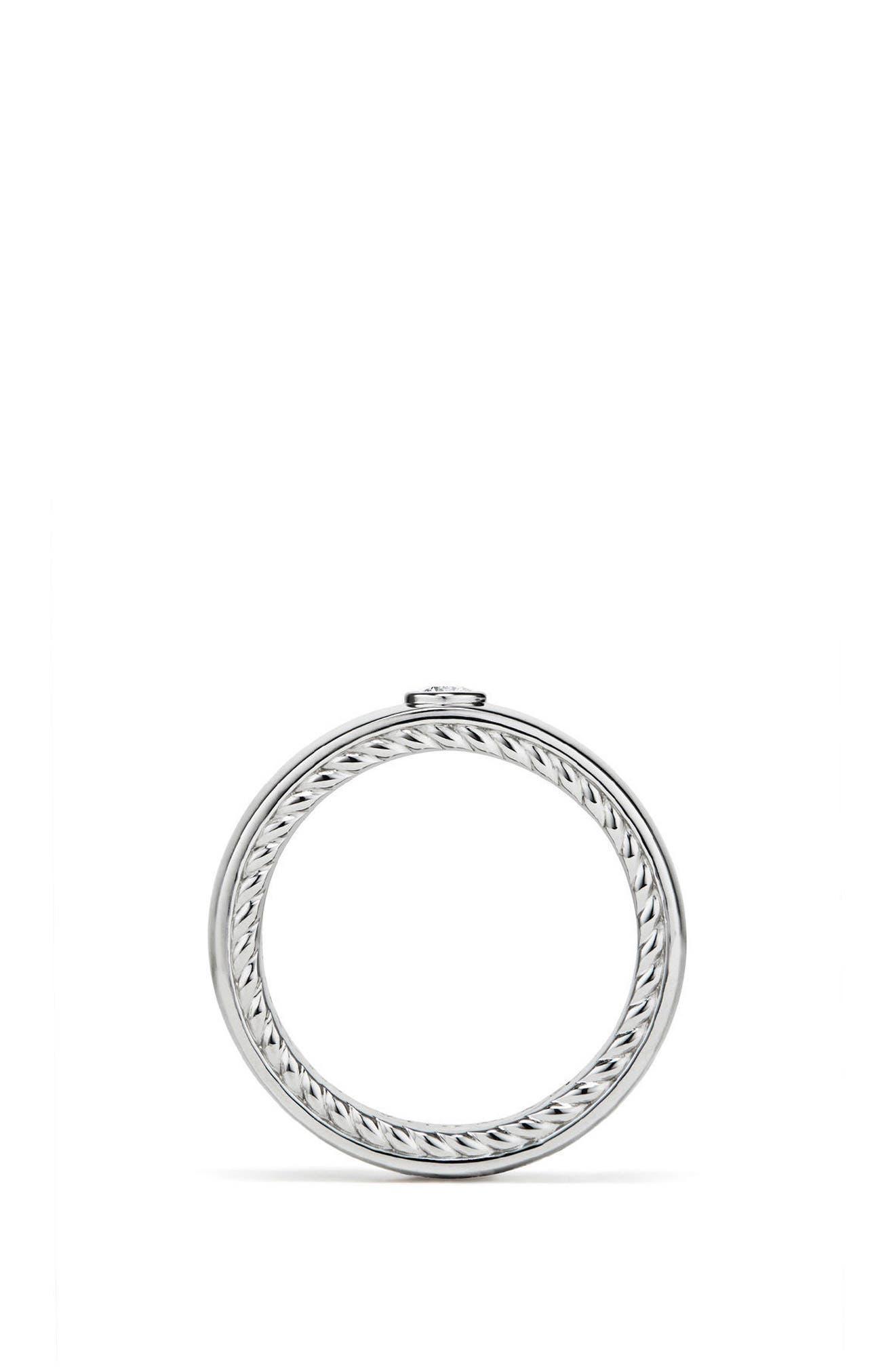 Streamline Band Ring with Diamond, 6mm,                             Alternate thumbnail 2, color,                             PLATINUM