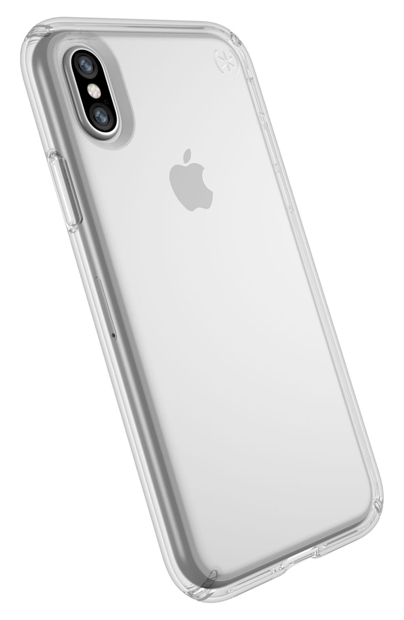 Transparent iPhone X Case,                             Alternate thumbnail 8, color,