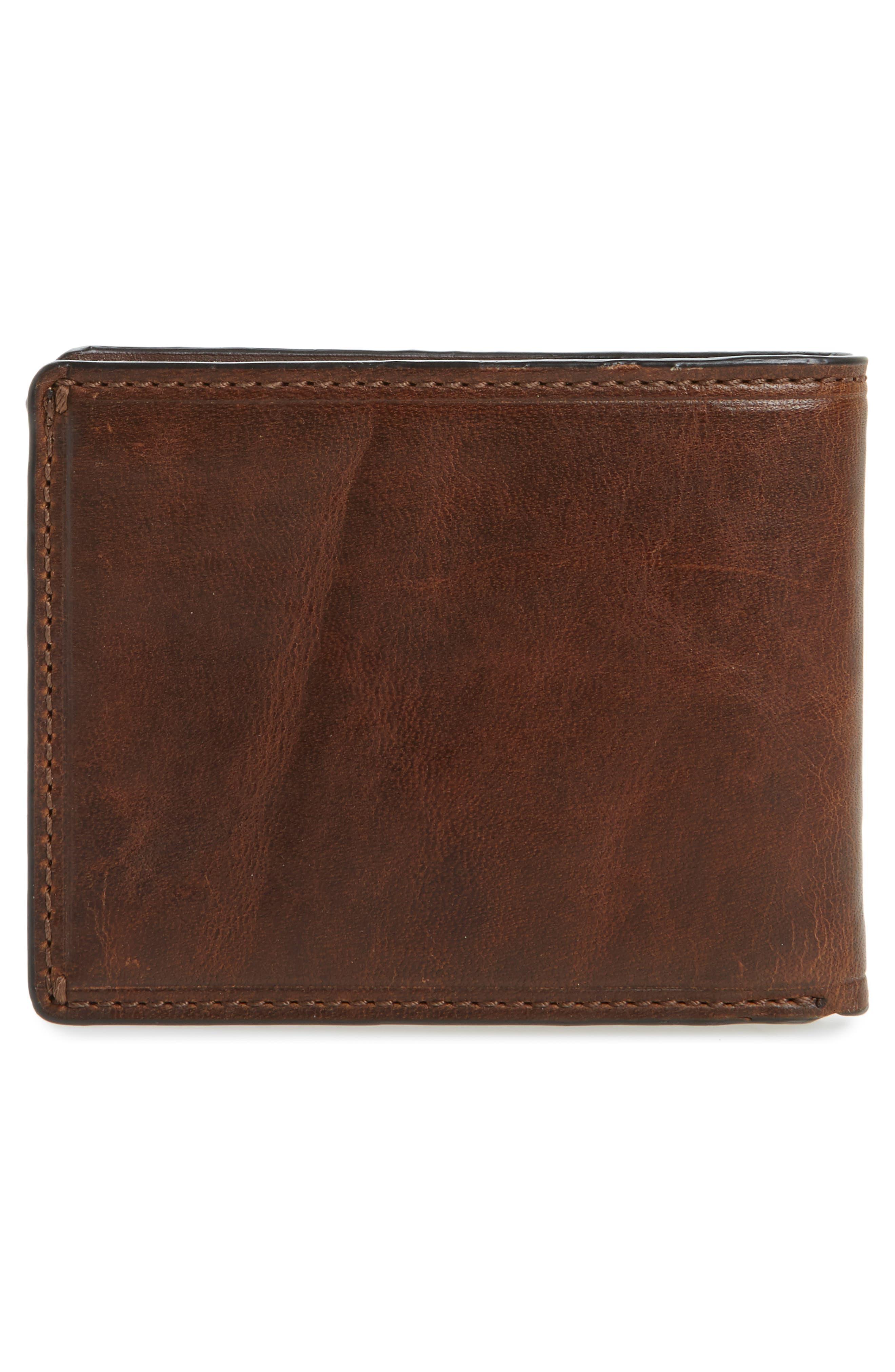 Logan Leather Wallet,                             Alternate thumbnail 3, color,                             DARK BROWN