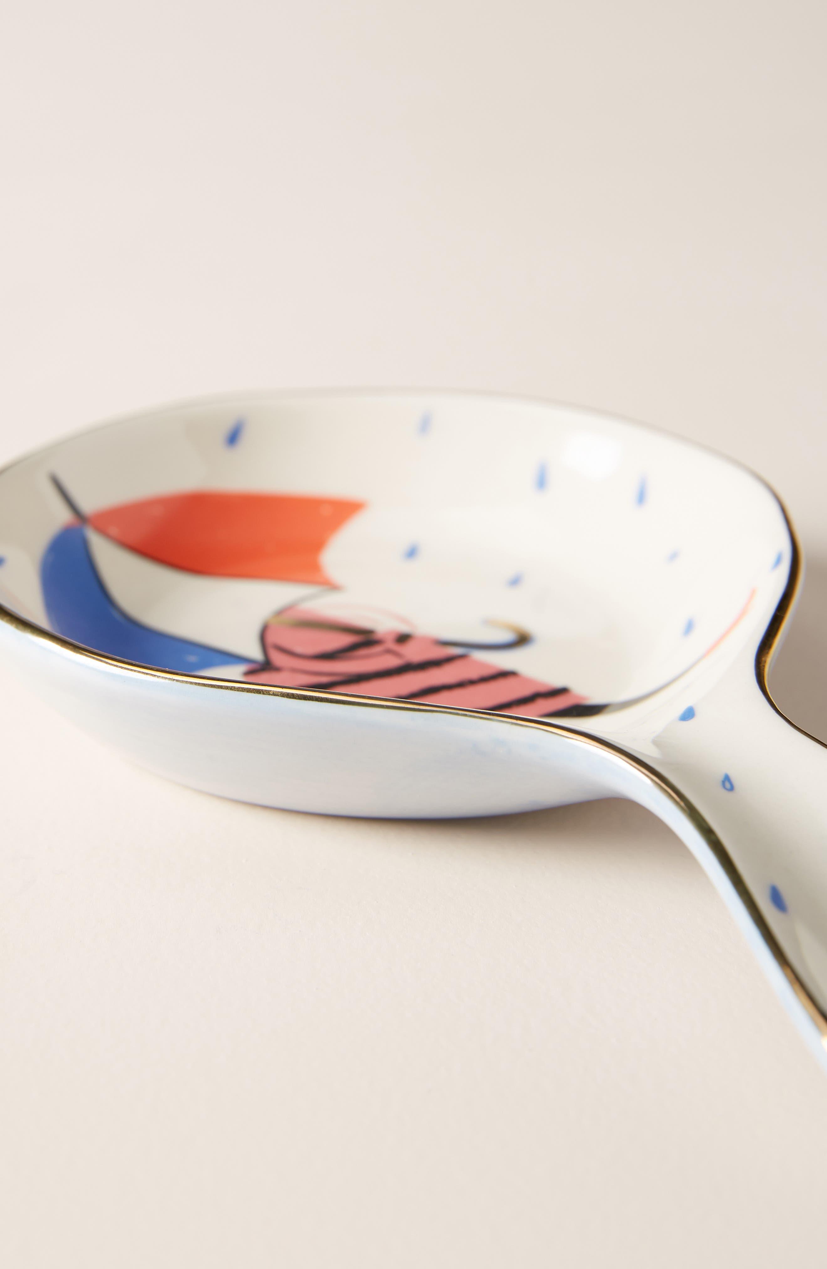 ANTHROPOLOGIE,                             Libby VanderPloeg Spoon Rest,                             Alternate thumbnail 2, color,                             WHITE MULTI