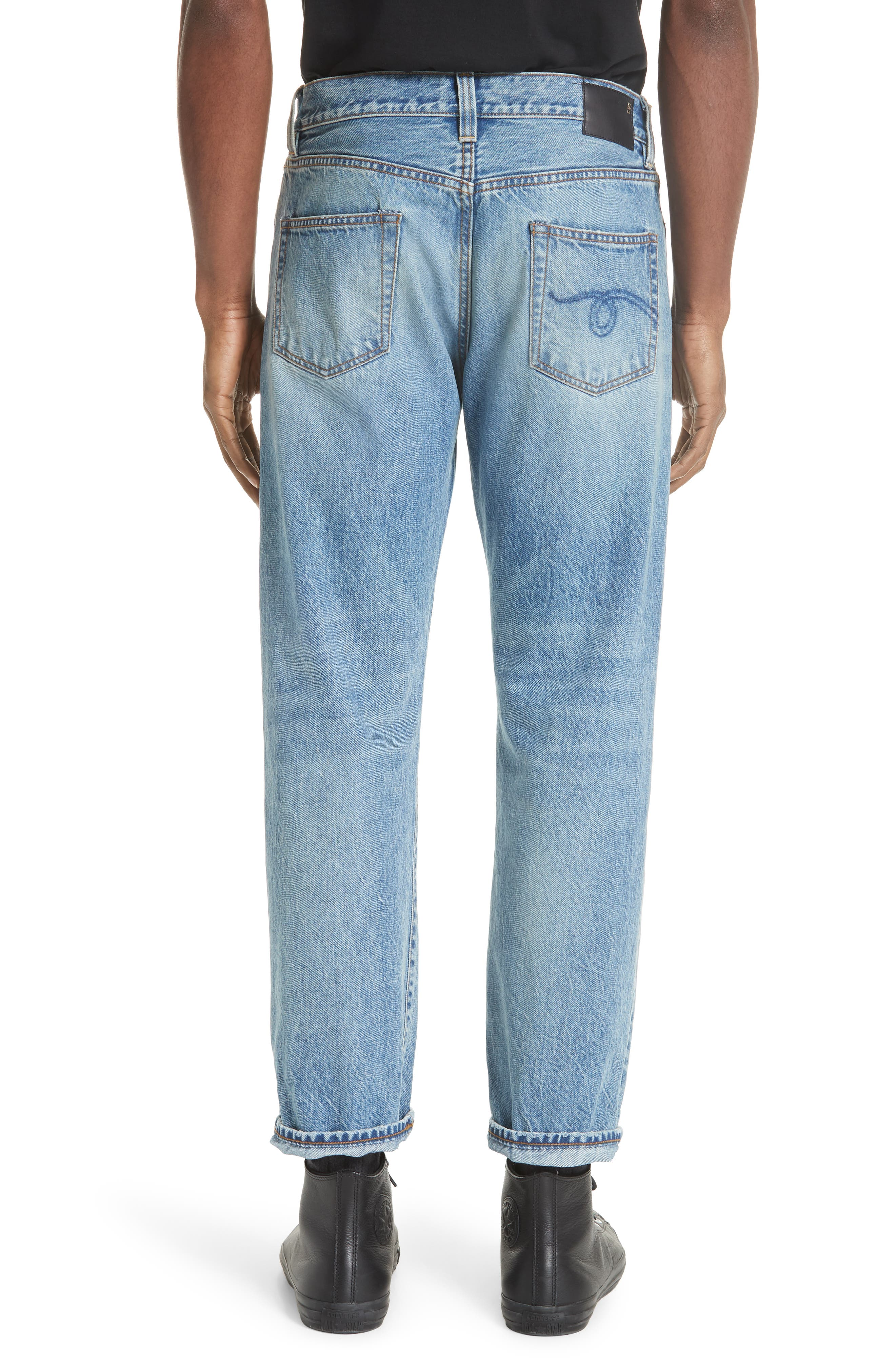 Hayden Relaxed Fit Jeans,                             Alternate thumbnail 2, color,                             BLUE