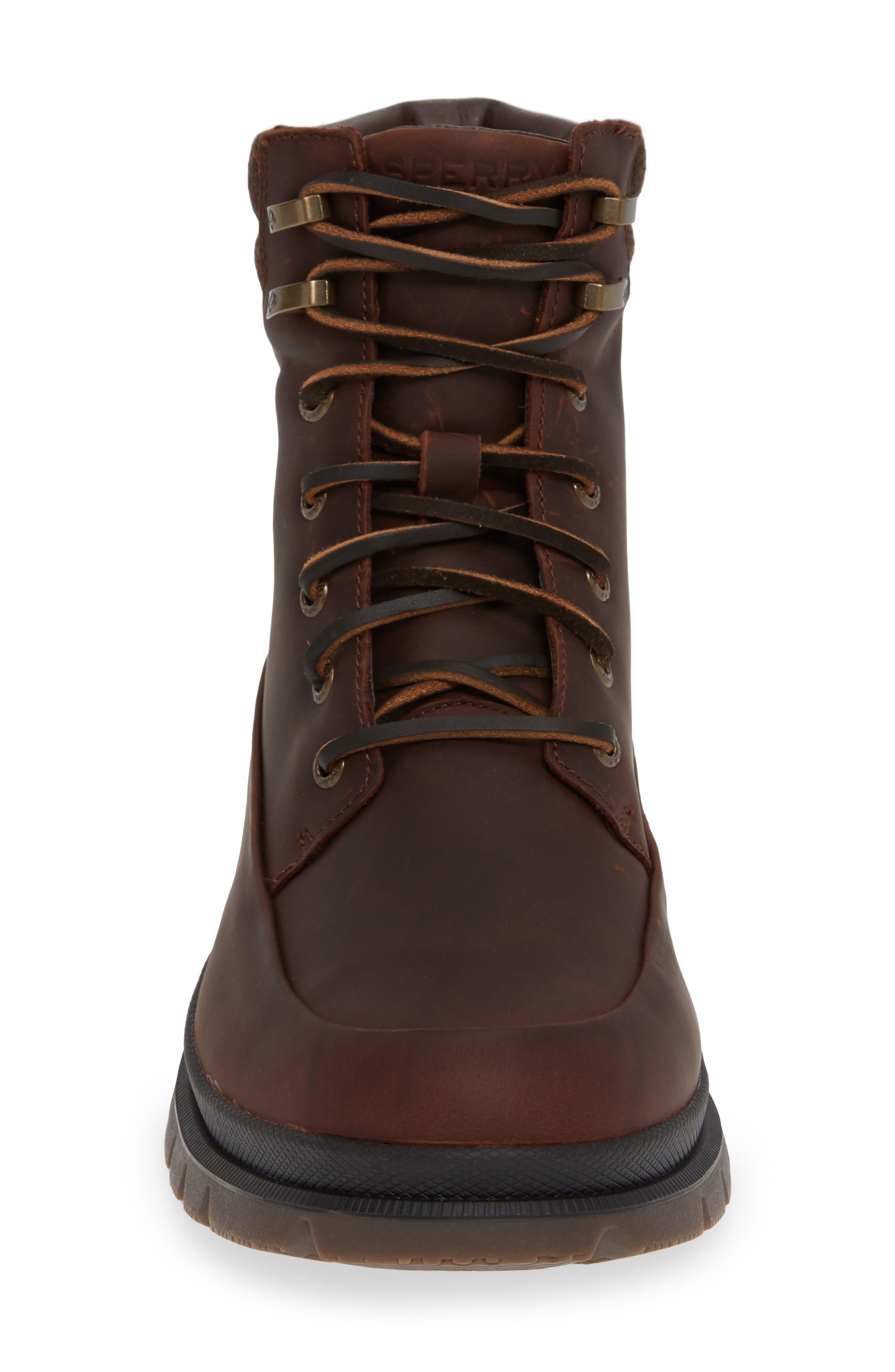 SPERRY,                             Watertown Waterproof Moc Toe Boot,                             Alternate thumbnail 4, color,                             BROWN