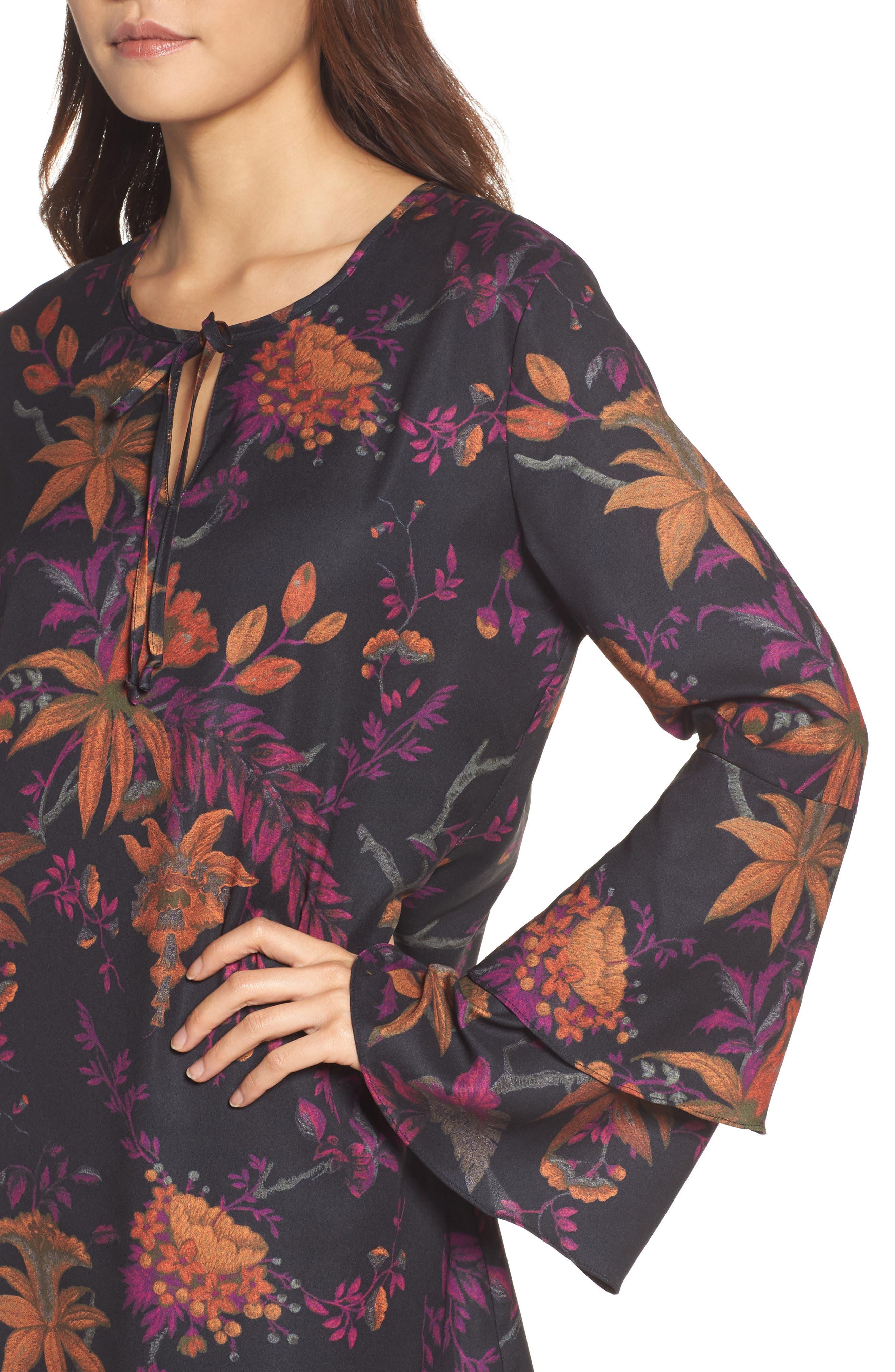 Primrose Bell Sleeve Dress,                             Alternate thumbnail 4, color,                             665
