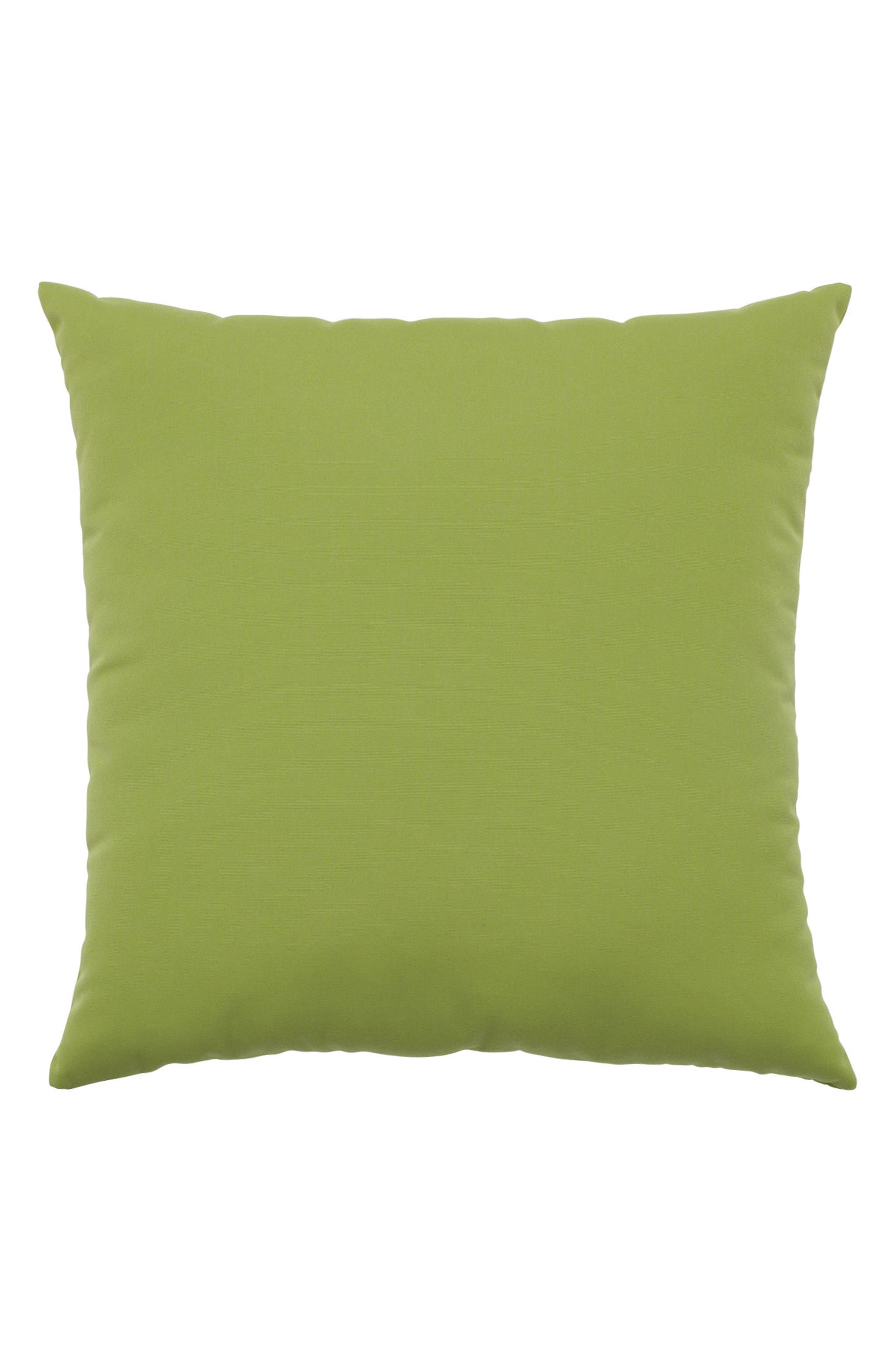 Basket Weave Indoor/Outdoor Accent Pillow,                             Alternate thumbnail 2, color,                             GREEN