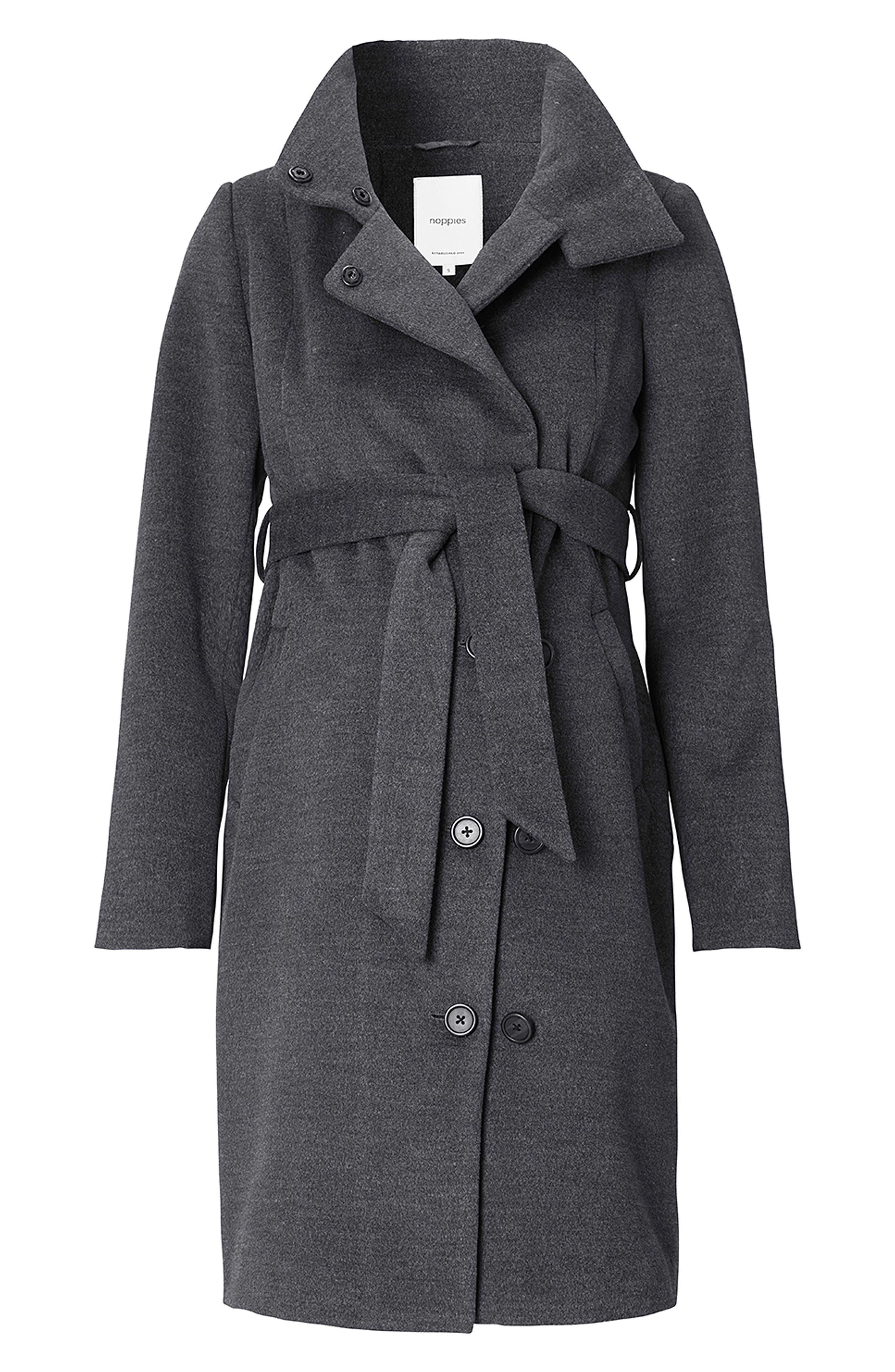 Ilena 2 Maternity Coat,                             Alternate thumbnail 2, color,                             BLACK MELANGE