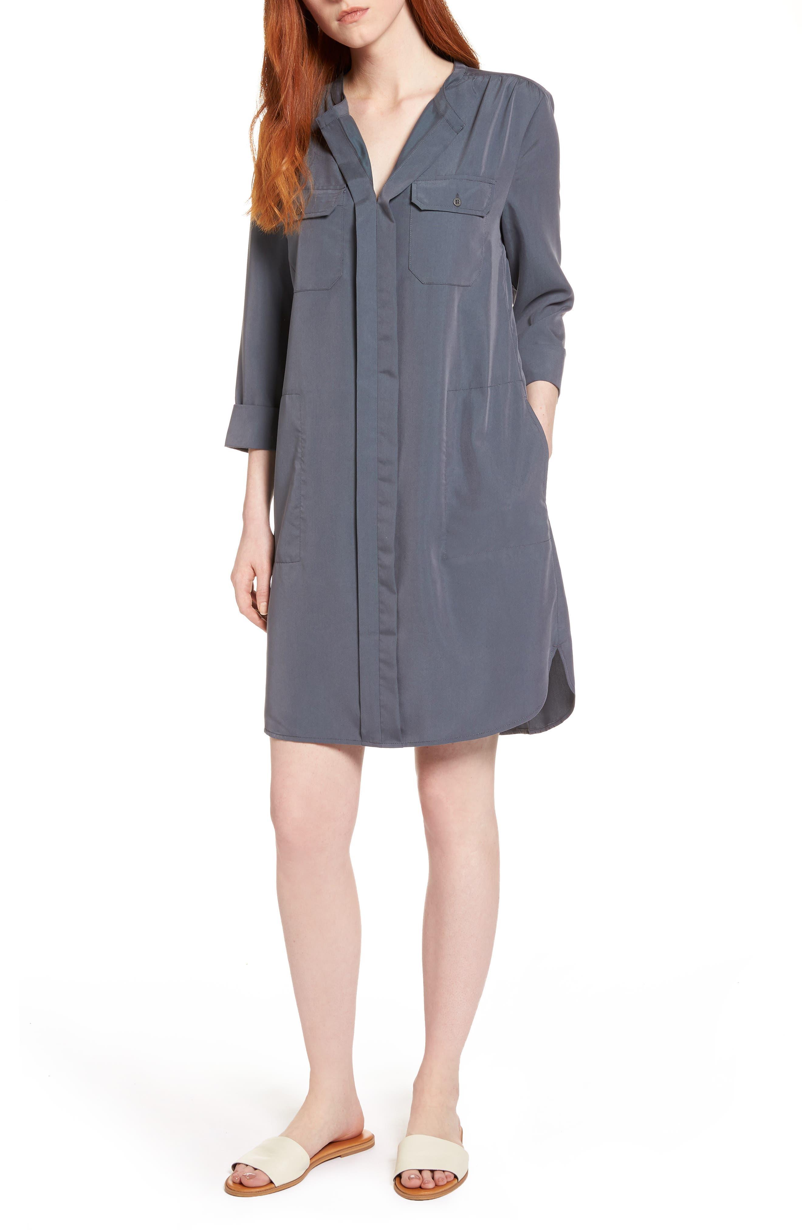 Nic+Zoe Wanderlust Shirtdress, Grey