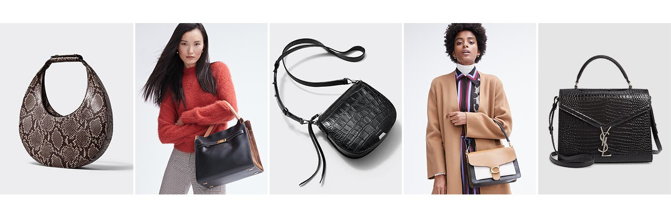 Now trending: textured handbags.