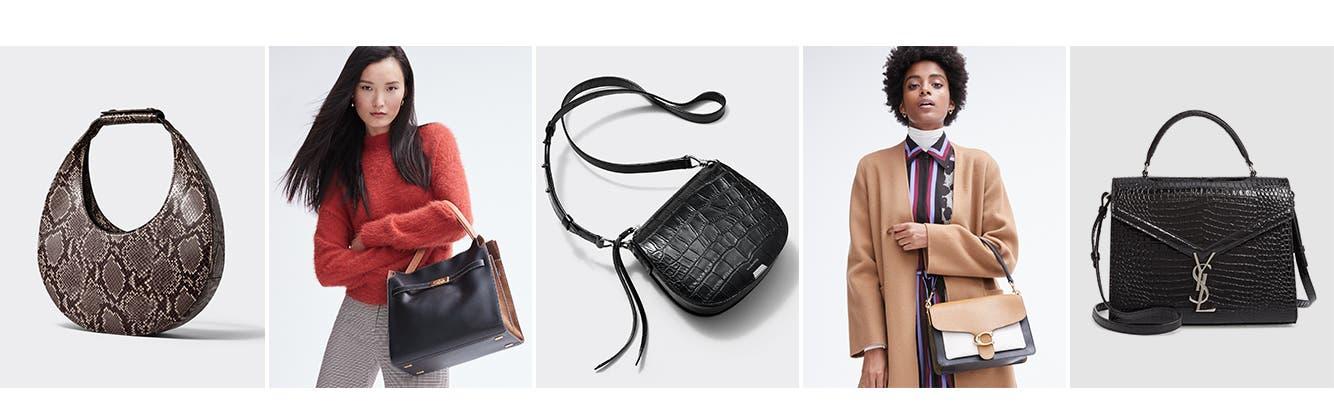 Now trending: textured handbags.