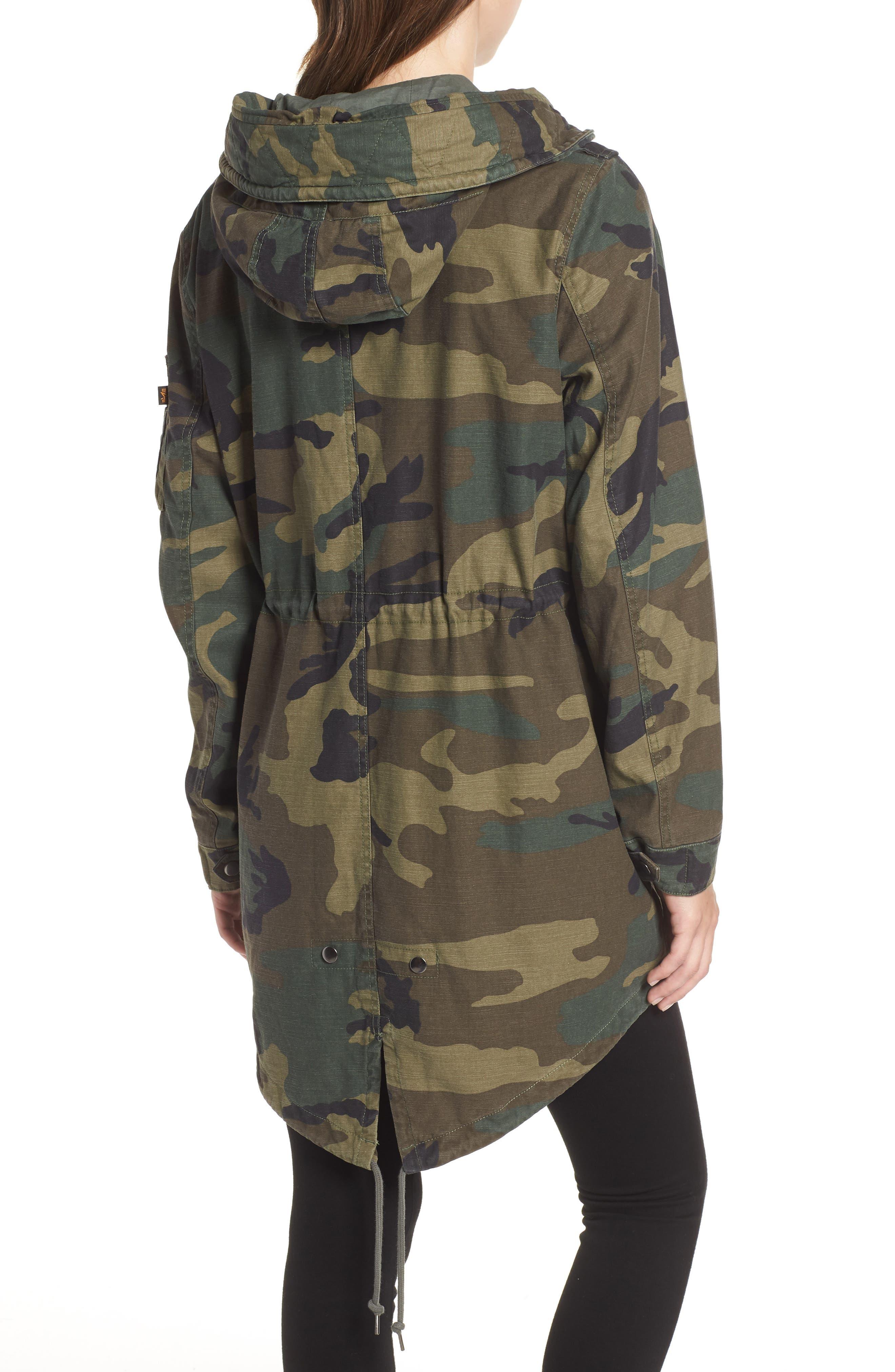 ALPHA INDUSTRIES,                             Meri Fishtail Hem Field Jacket,                             Alternate thumbnail 2, color,                             303