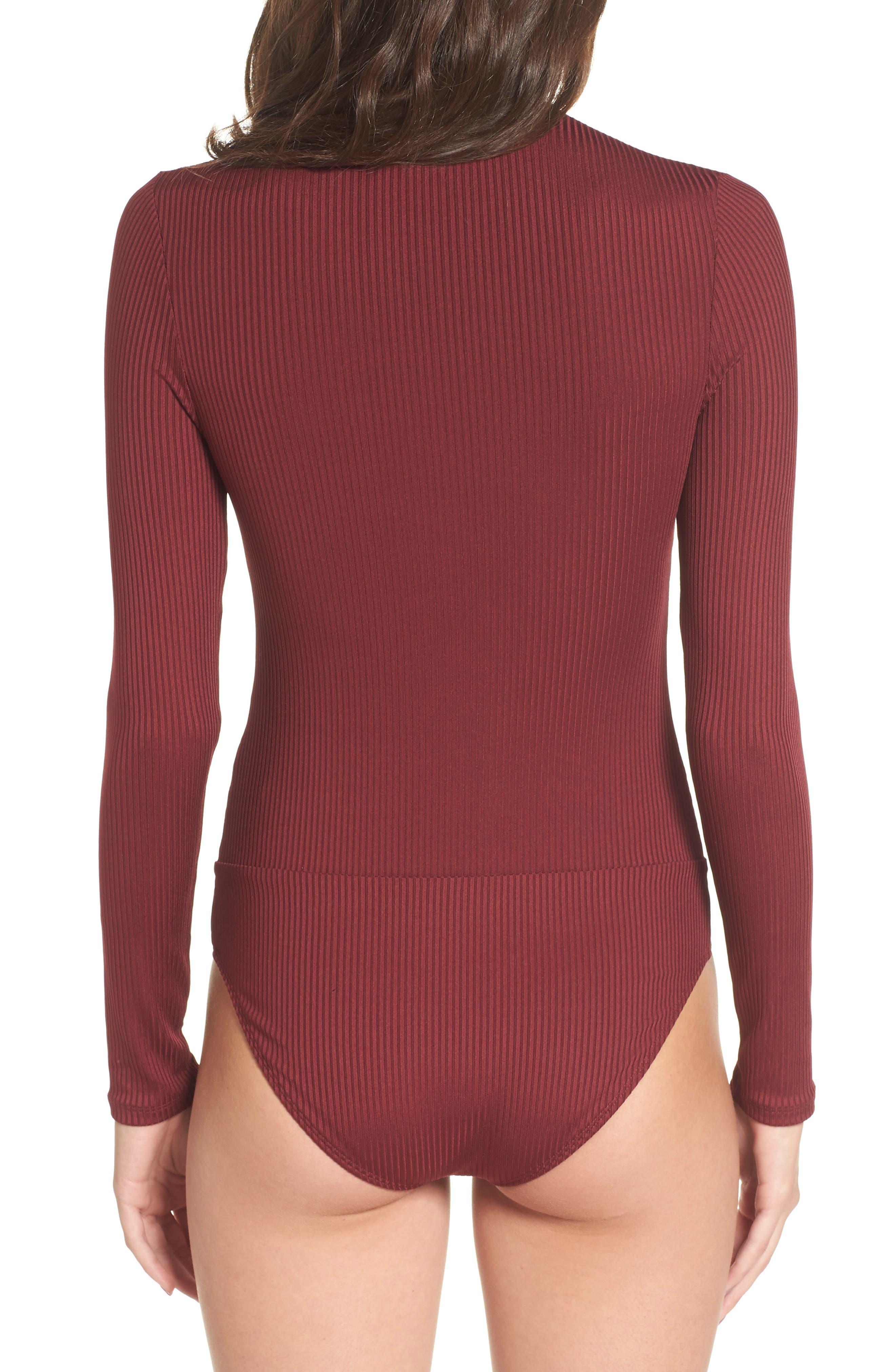 Lace-Up Bodysuit,                             Alternate thumbnail 3, color,                             930