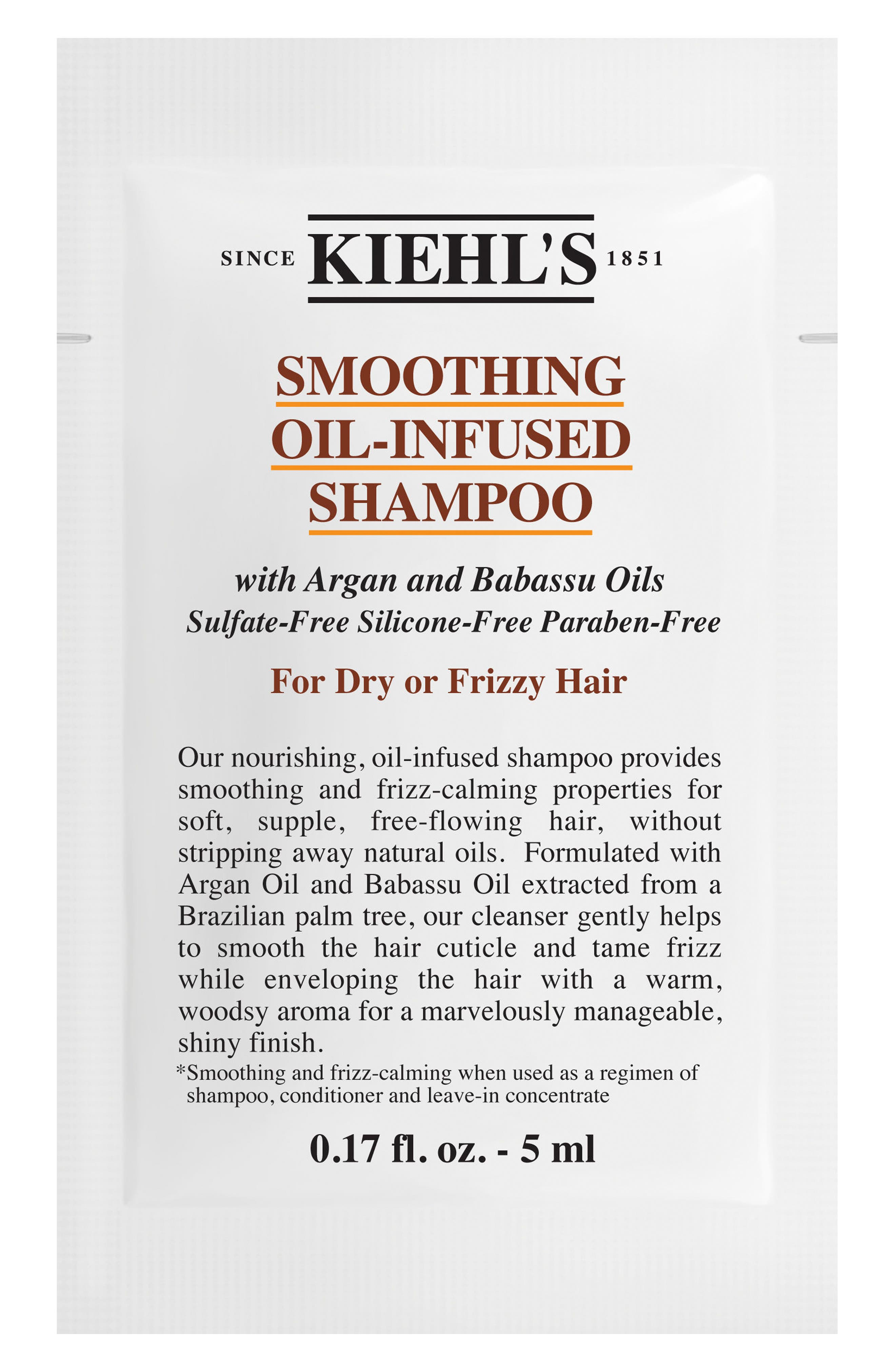 Smoothing Oil-Infused Shampoo,                             Alternate thumbnail 2, color,                             NO COLOR