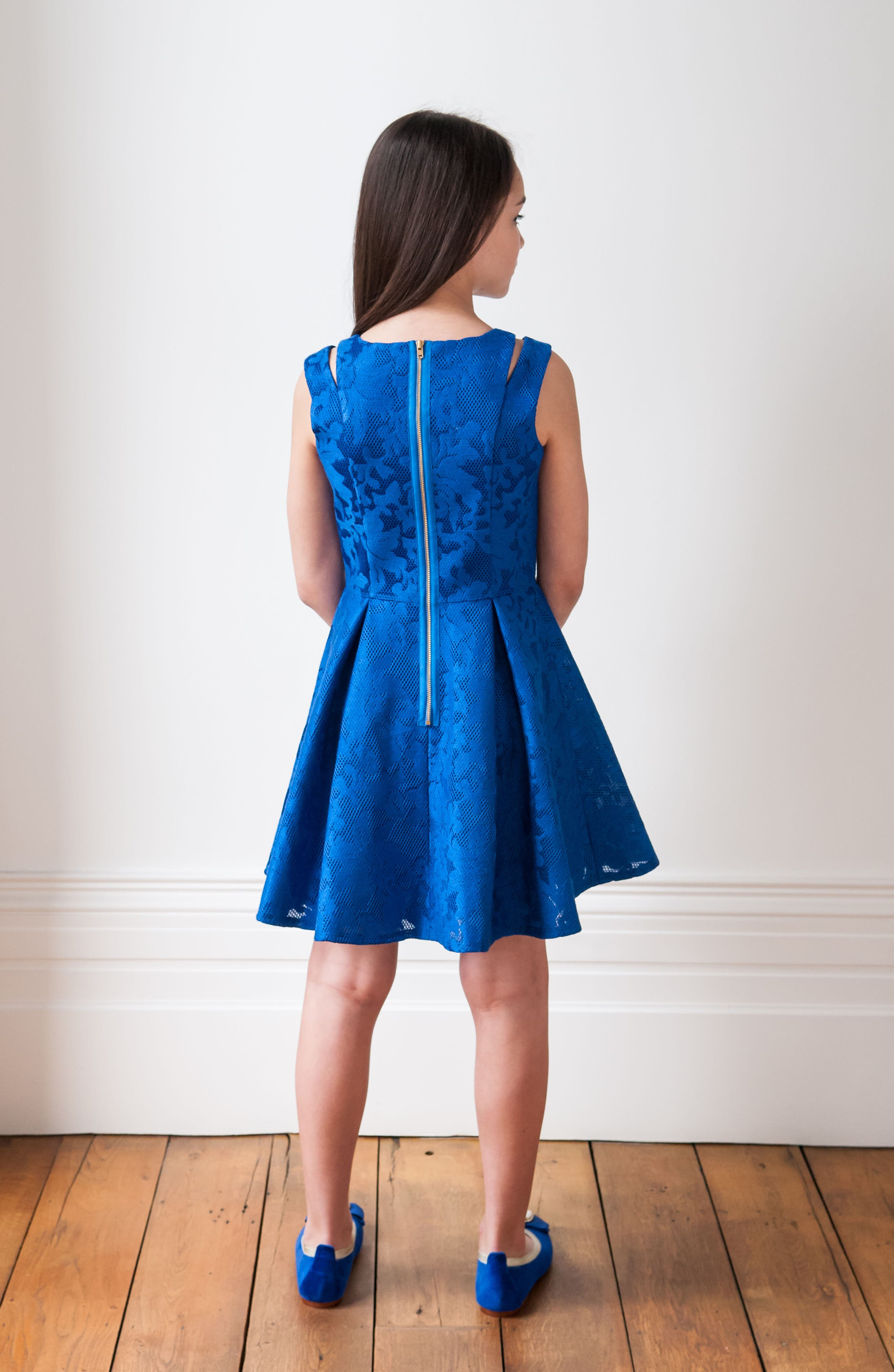 Embroidered Techno Dress,                             Alternate thumbnail 5, color,                             430