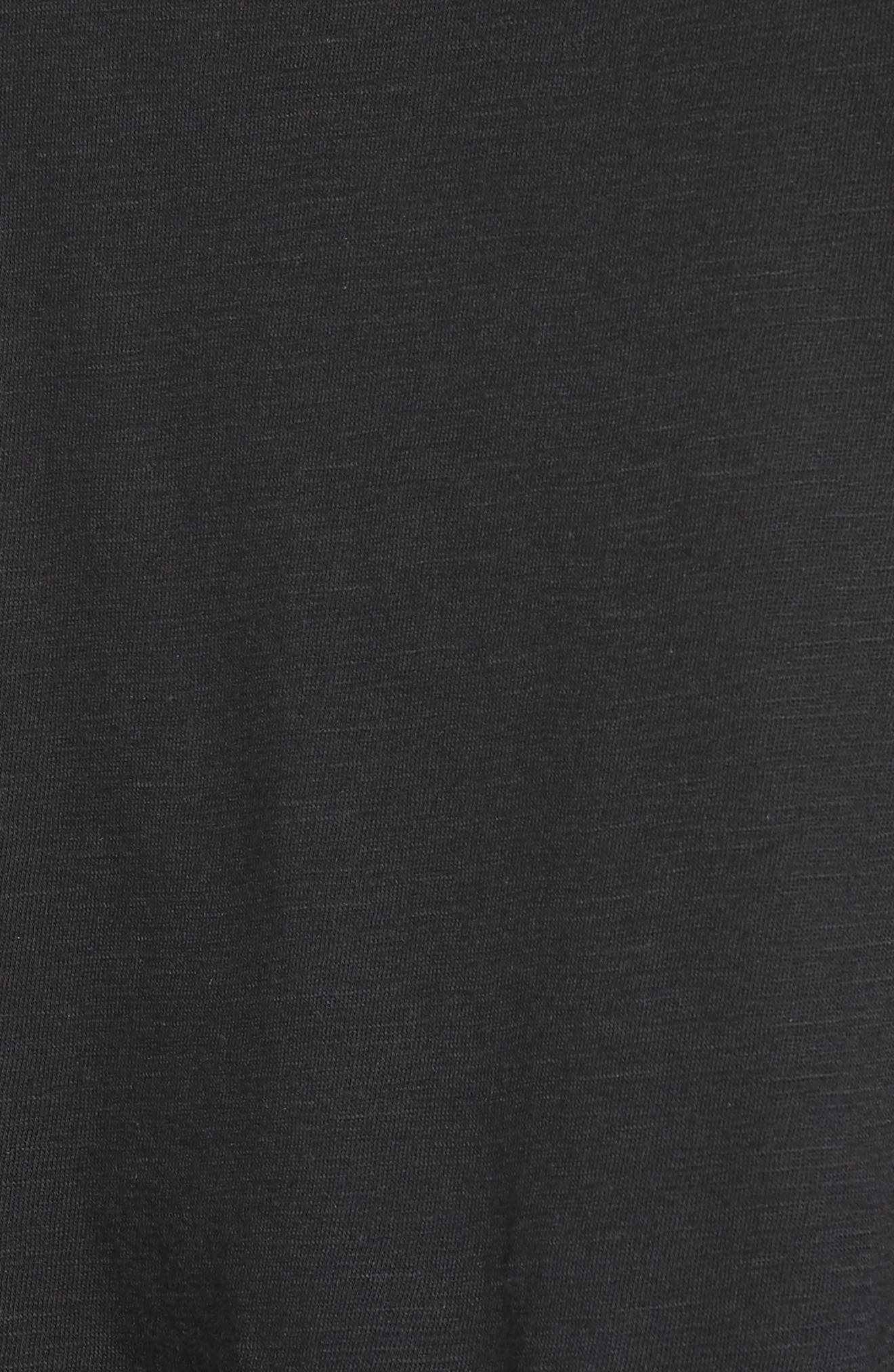 Sleeveless Tulle Trim Tank Top,                             Alternate thumbnail 6, color,                             BLACK