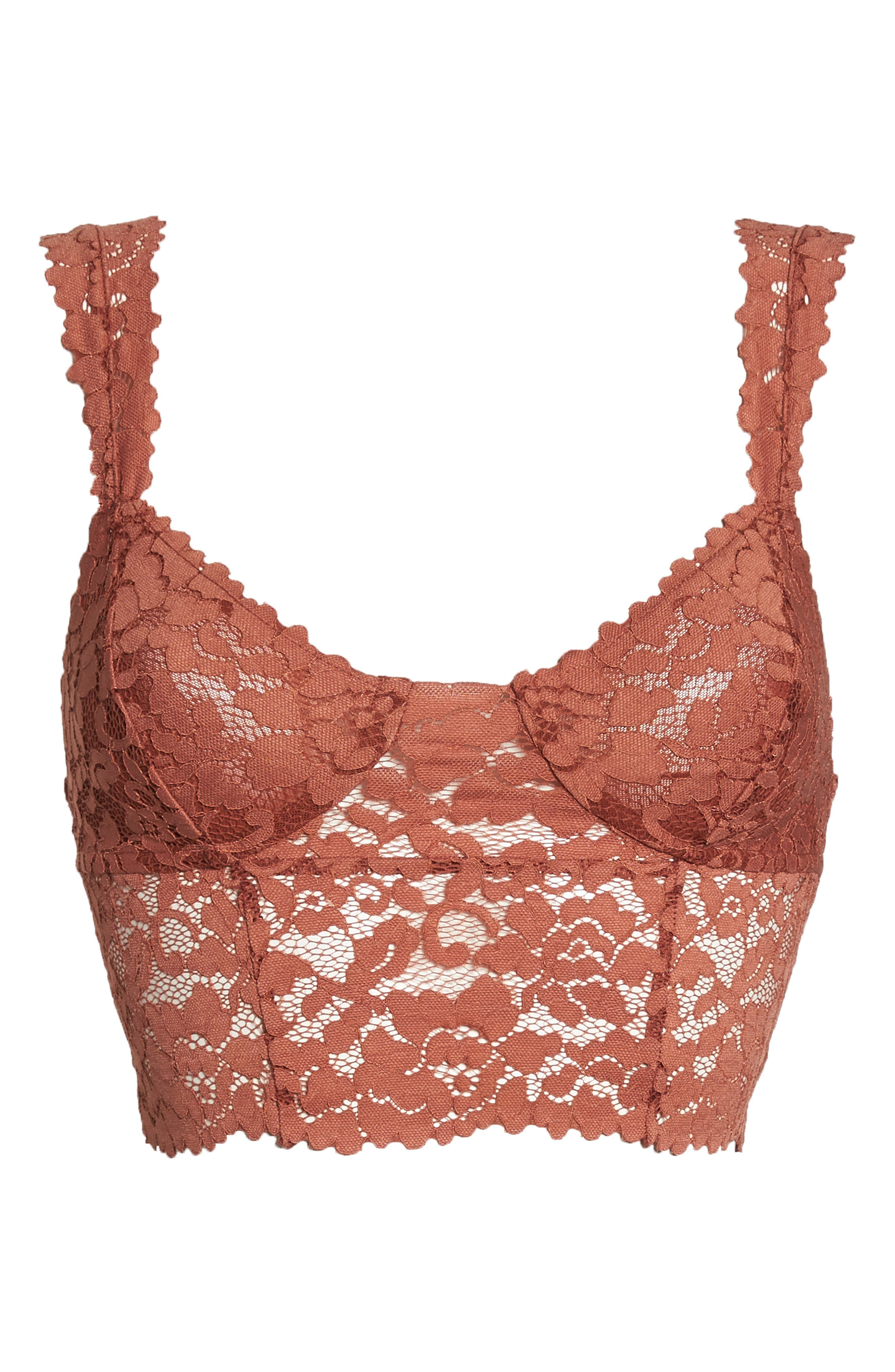 Intimately FP Dream Away Lace Longline Underwire Bralette,                             Alternate thumbnail 14, color,