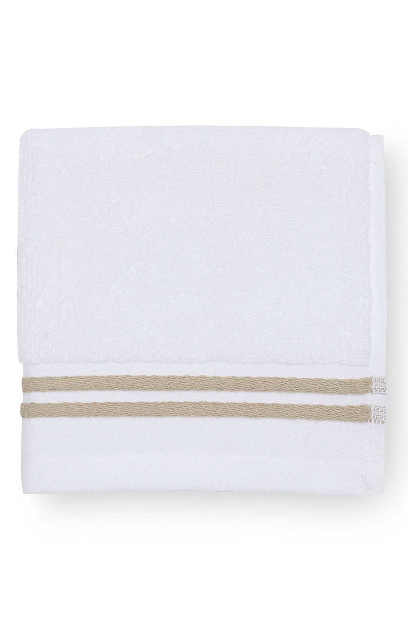 Aura Washcloth,                             Main thumbnail 1, color,                             WHITE/ ALMOND