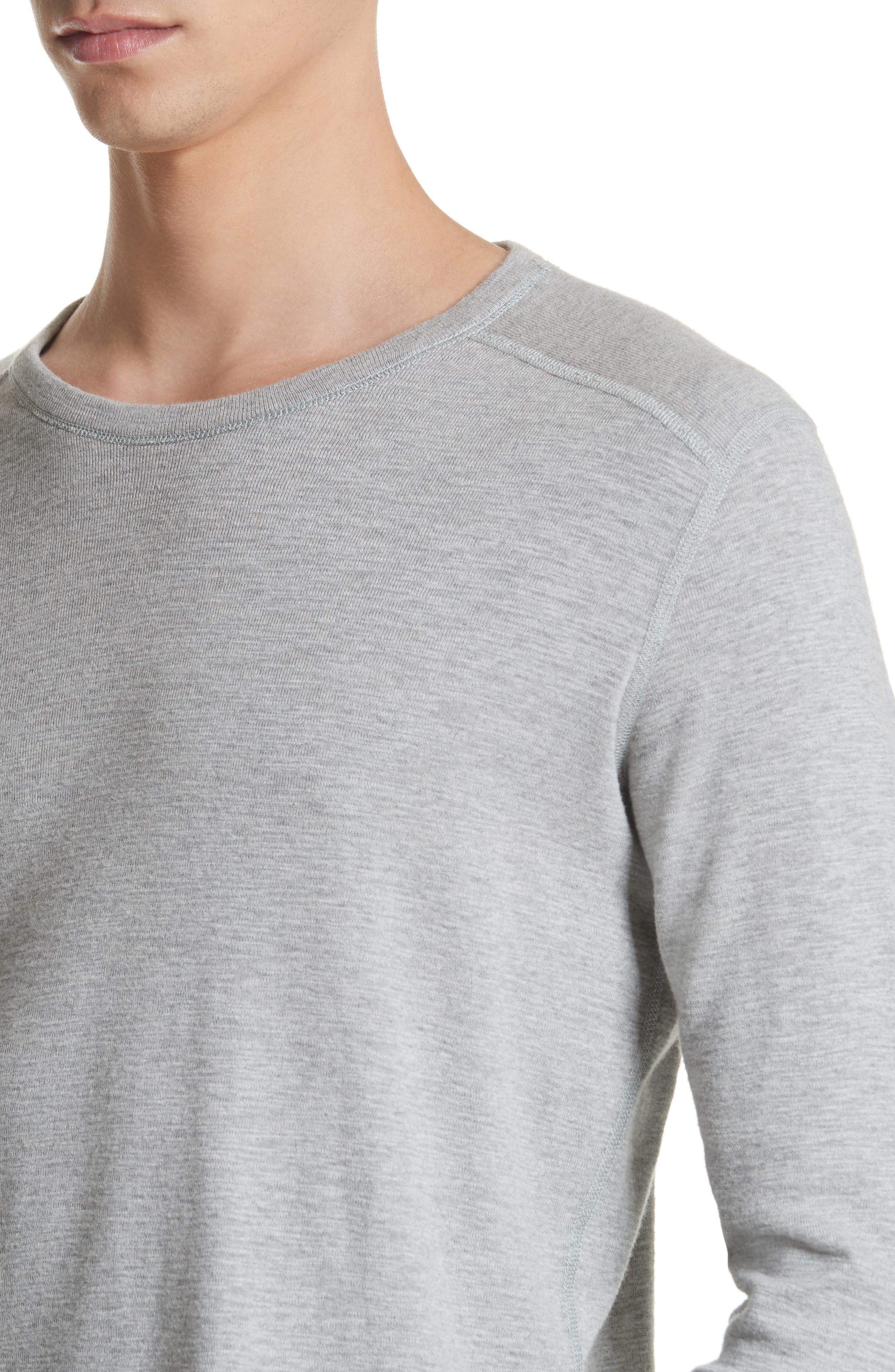 Slub Crewneck Sweater,                             Alternate thumbnail 4, color,                             HEATHER GREY