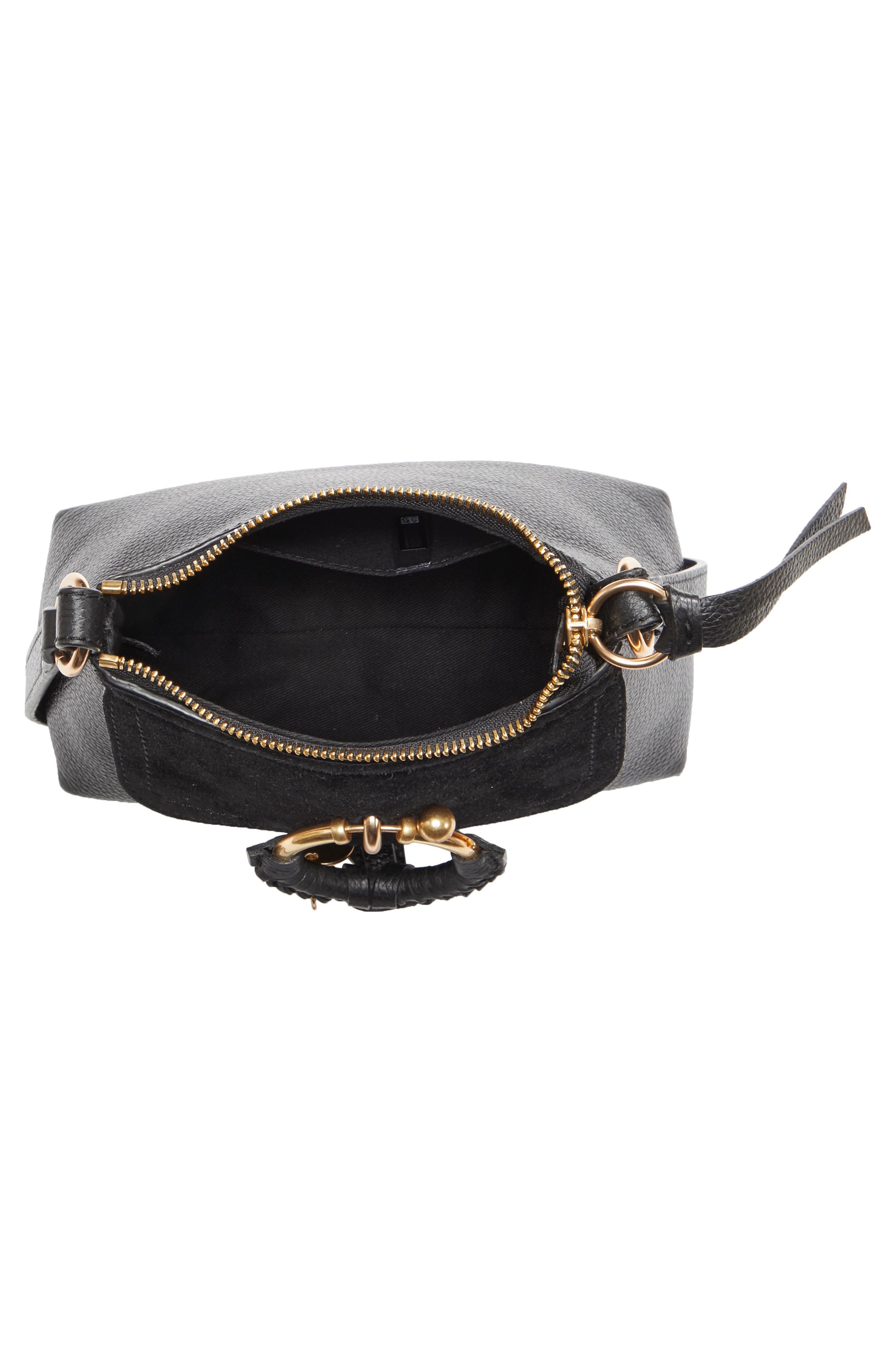 SEE BY CHLOÉ,                             Mini Joan Leather Crossbody Bag,                             Alternate thumbnail 4, color,                             001