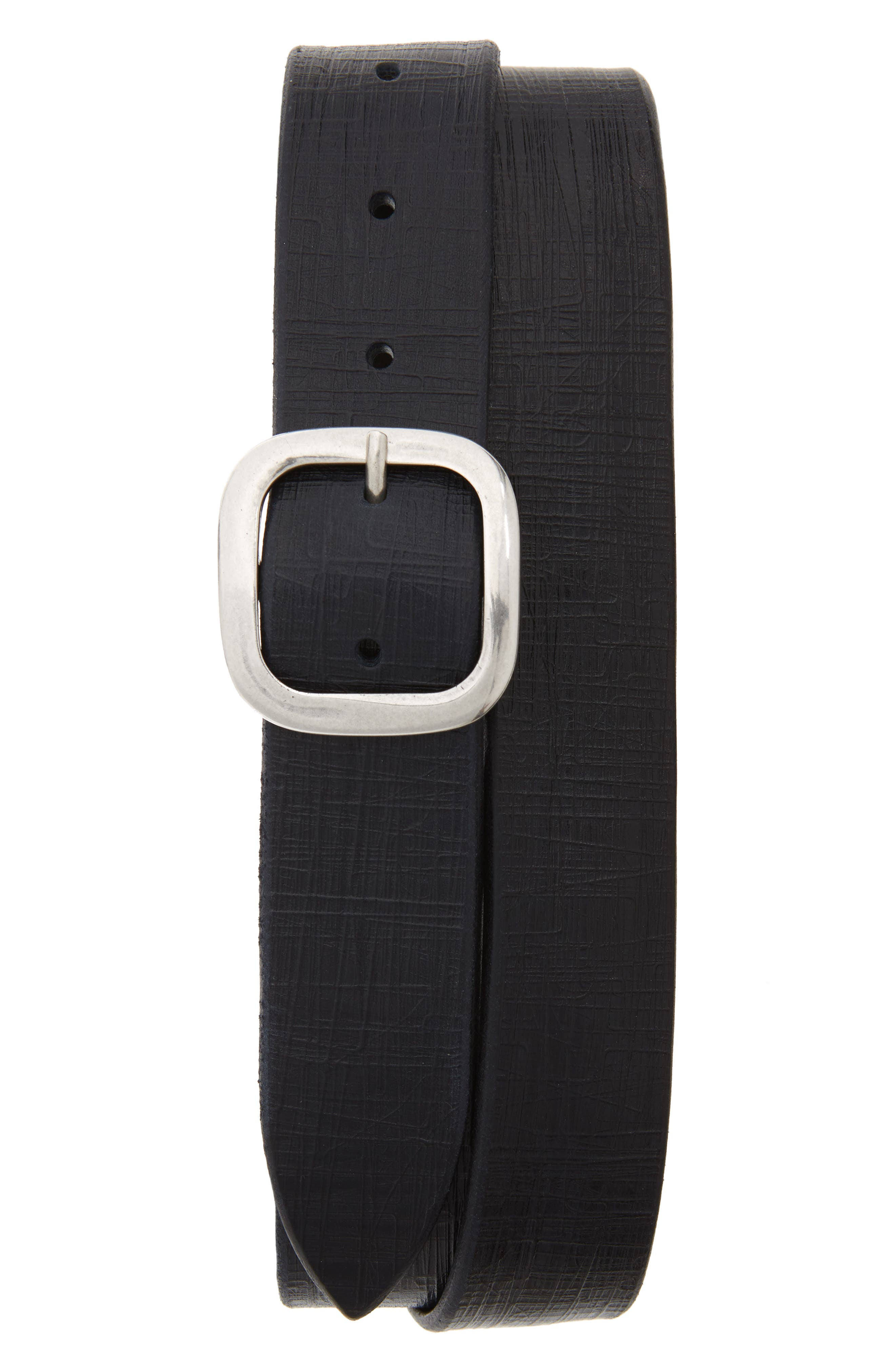 Orciani Bull Flame Leather Belt, Blue