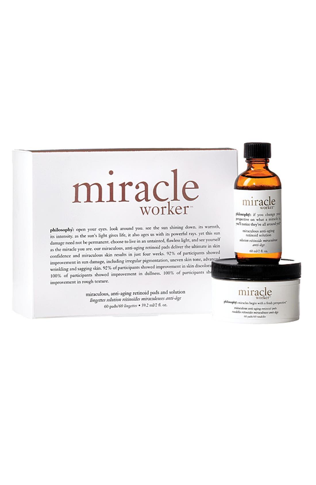 'anti-wrinkle miracle worker' retinoid pads & elixir,                             Alternate thumbnail 2, color,                             000
