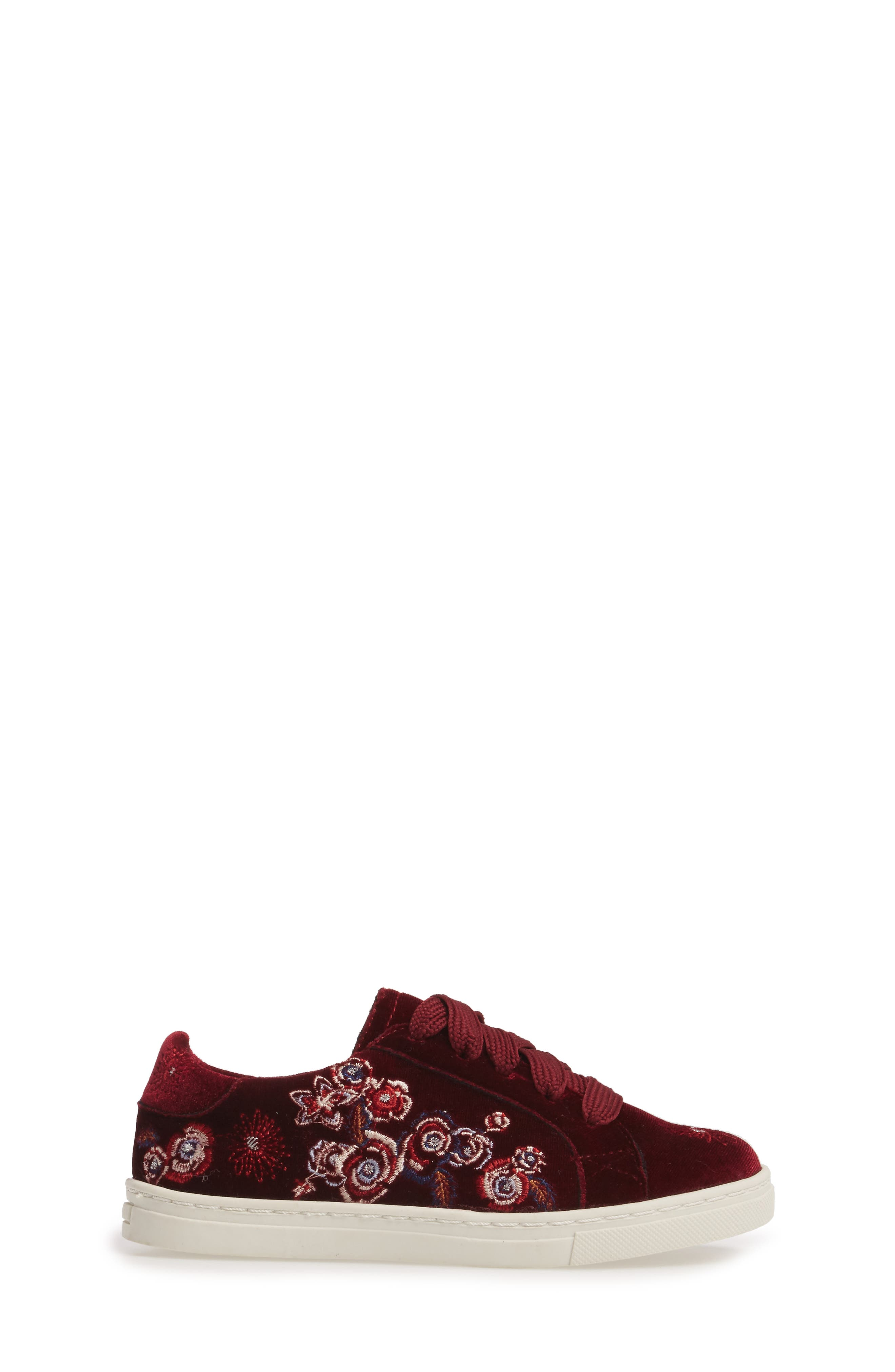 Zolly Floral Embroidered Sneaker,                             Alternate thumbnail 3, color,