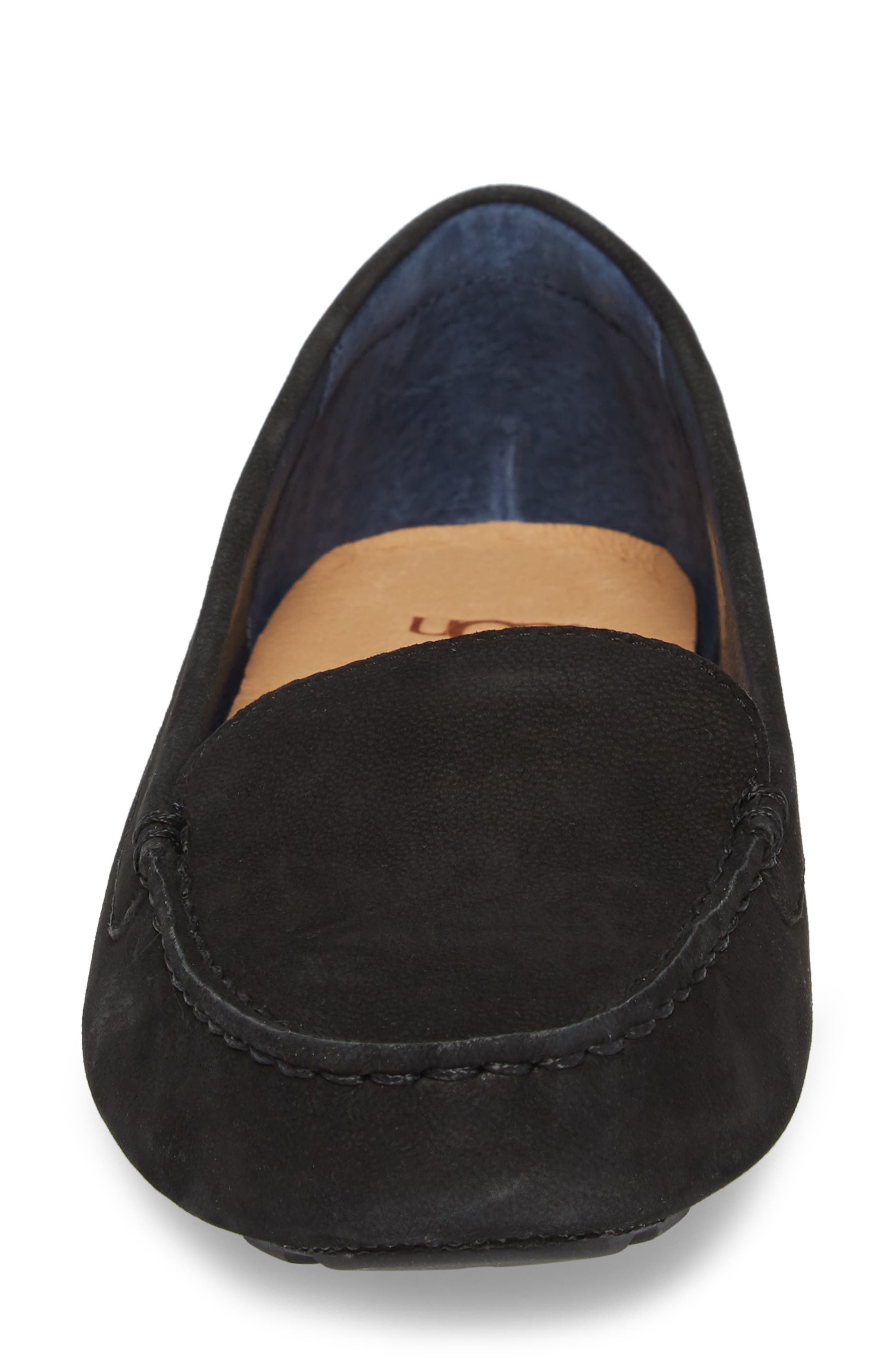 Milana II Moc Toe Flat,                             Alternate thumbnail 4, color,                             001