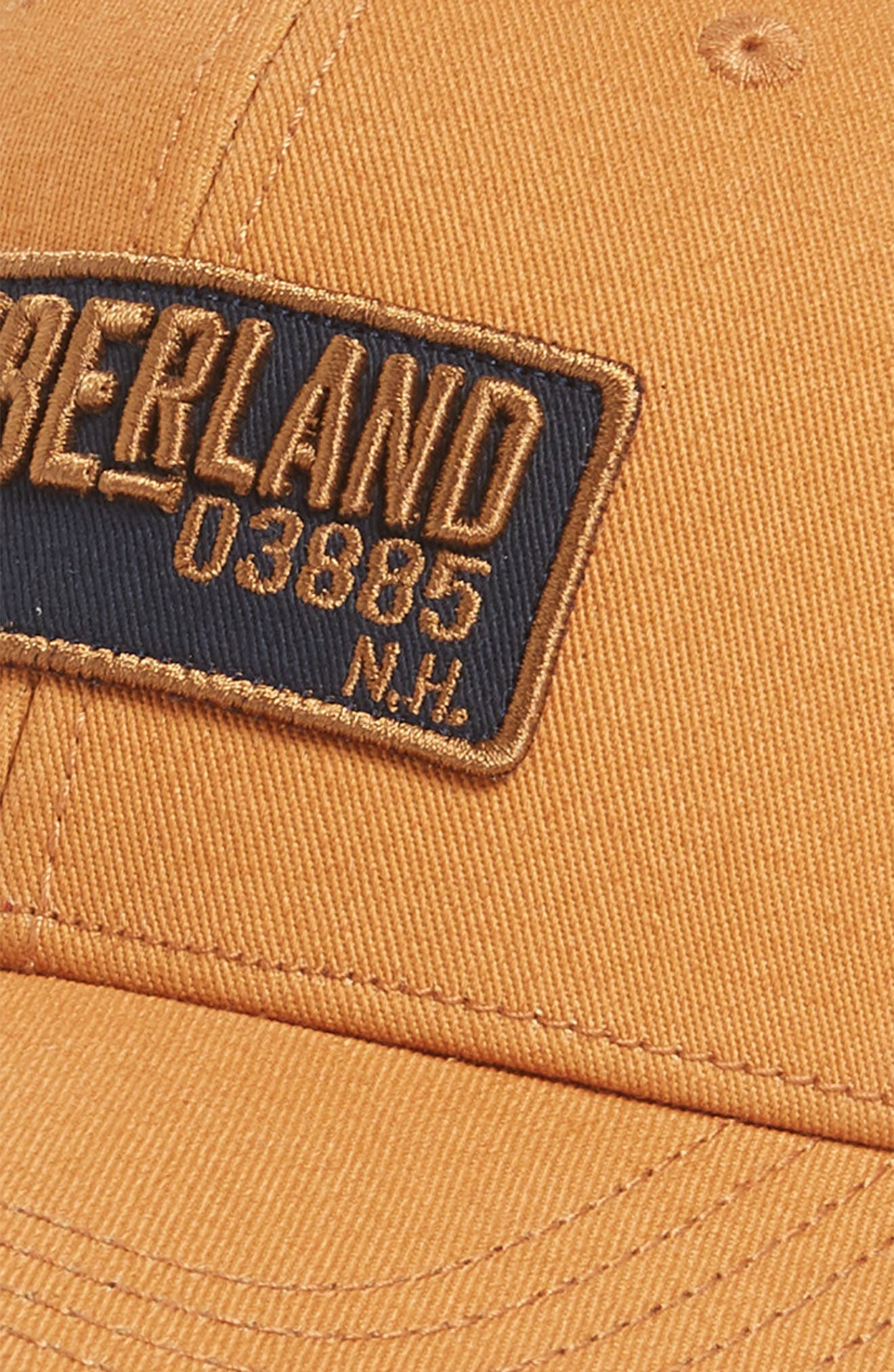 TIMBERLAND,                             Kittery Baseball Cap,                             Alternate thumbnail 3, color,                             WHEAT