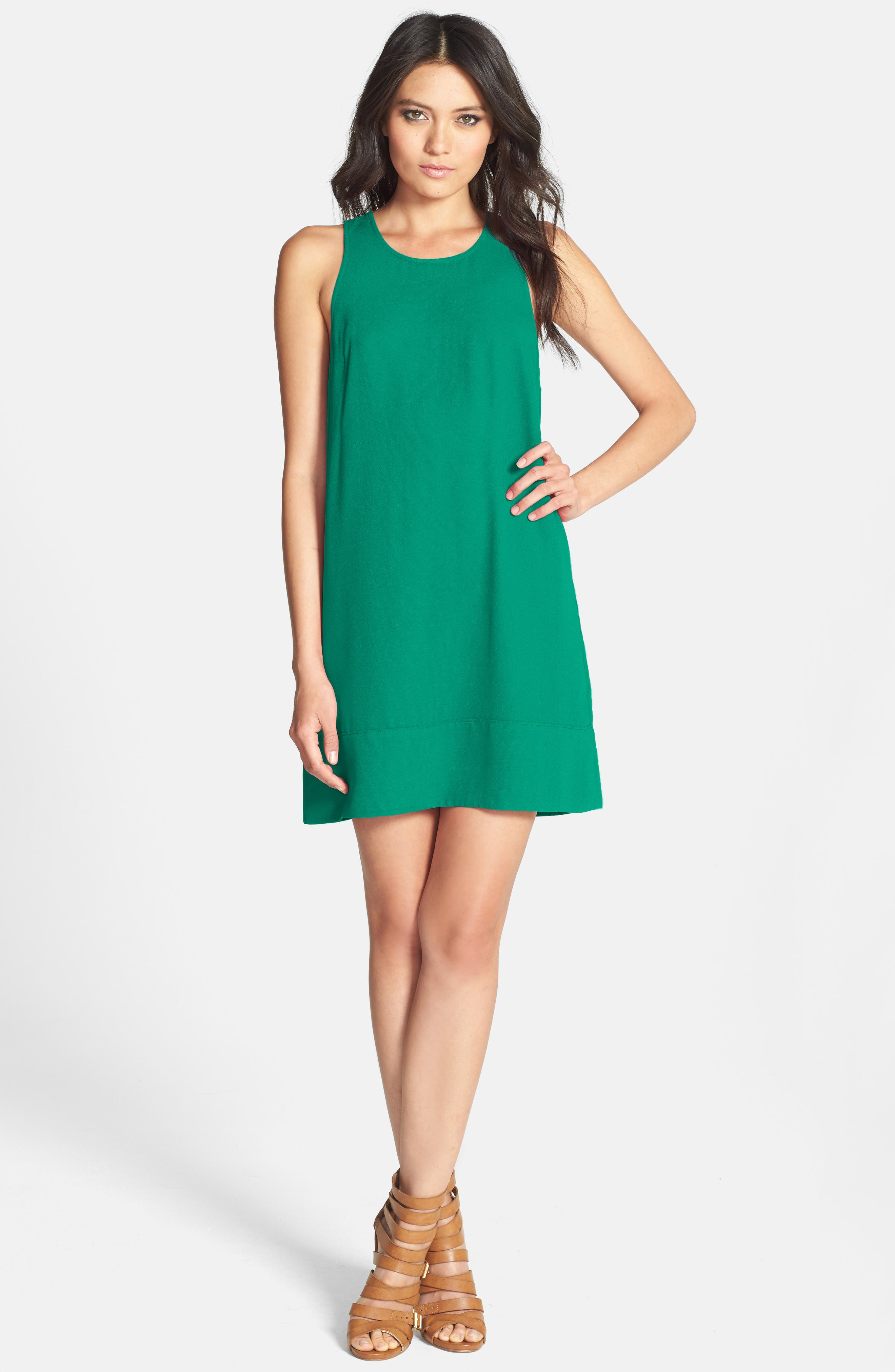 Racerback Shift Dress,                             Alternate thumbnail 215, color,