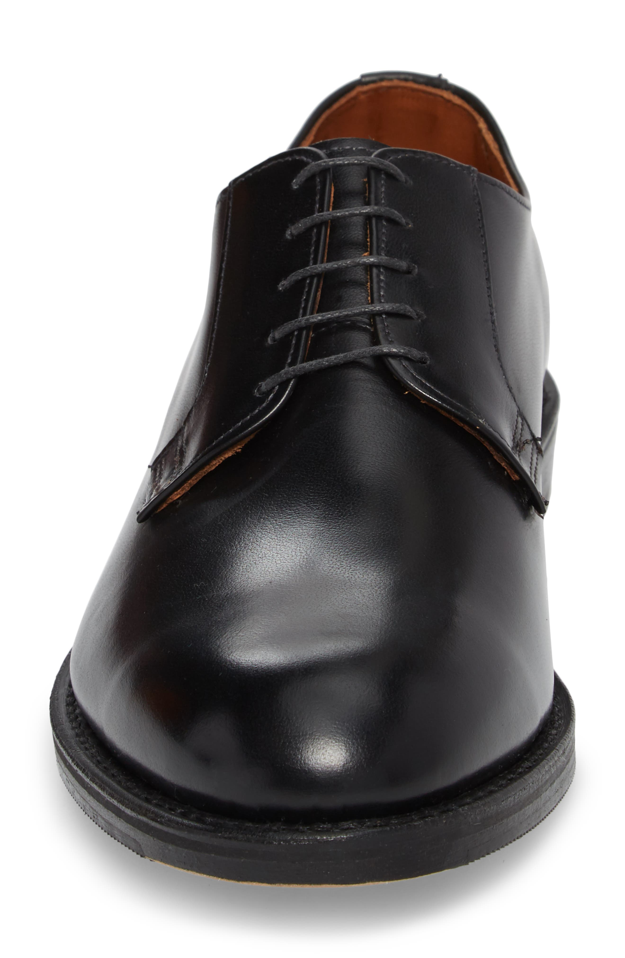 Whitney Plain Toe Derby,                             Alternate thumbnail 4, color,                             BLACK LEATHER