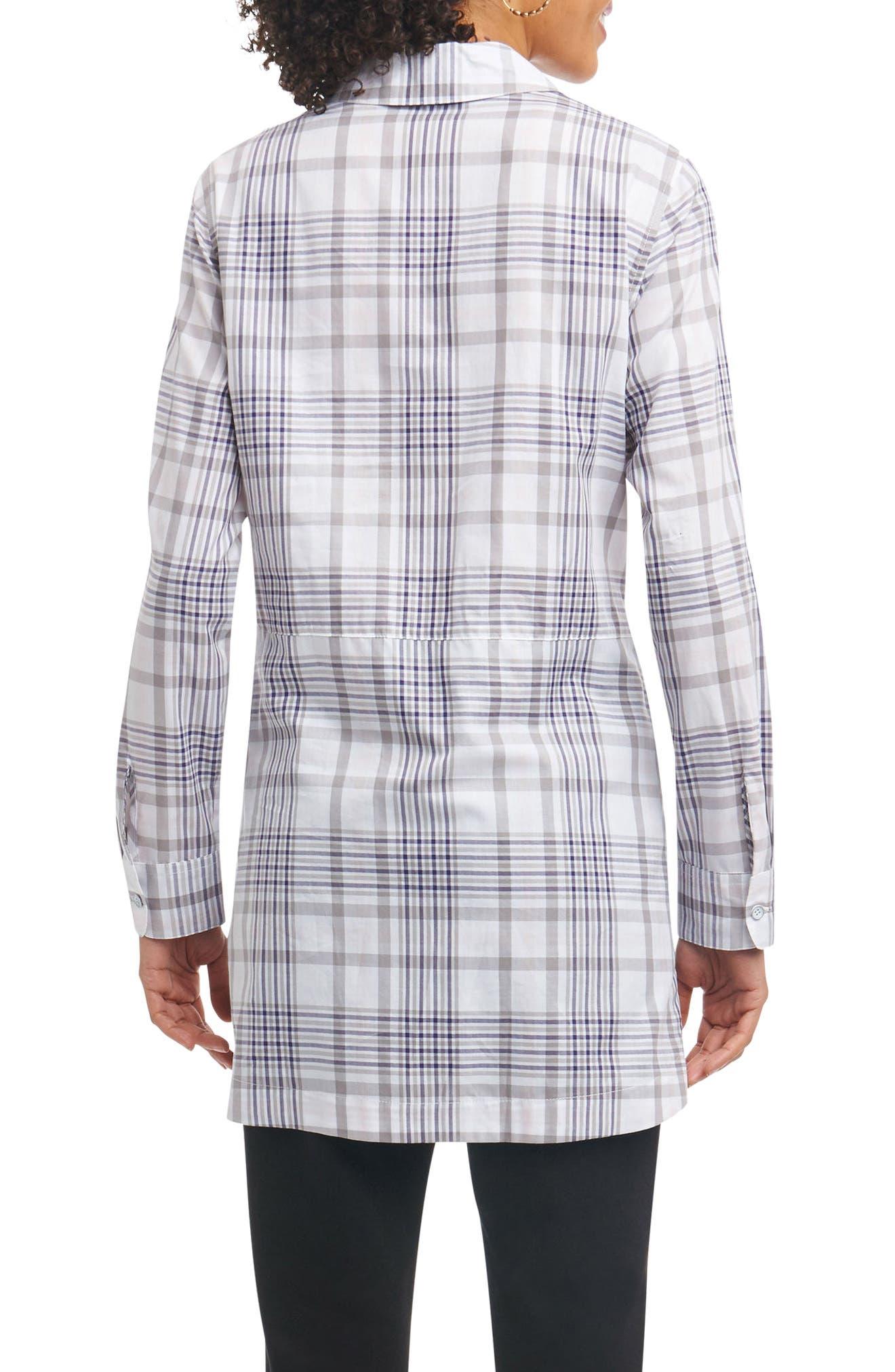 Maddy Plaid Tunic Shirt,                             Alternate thumbnail 2, color,                             037