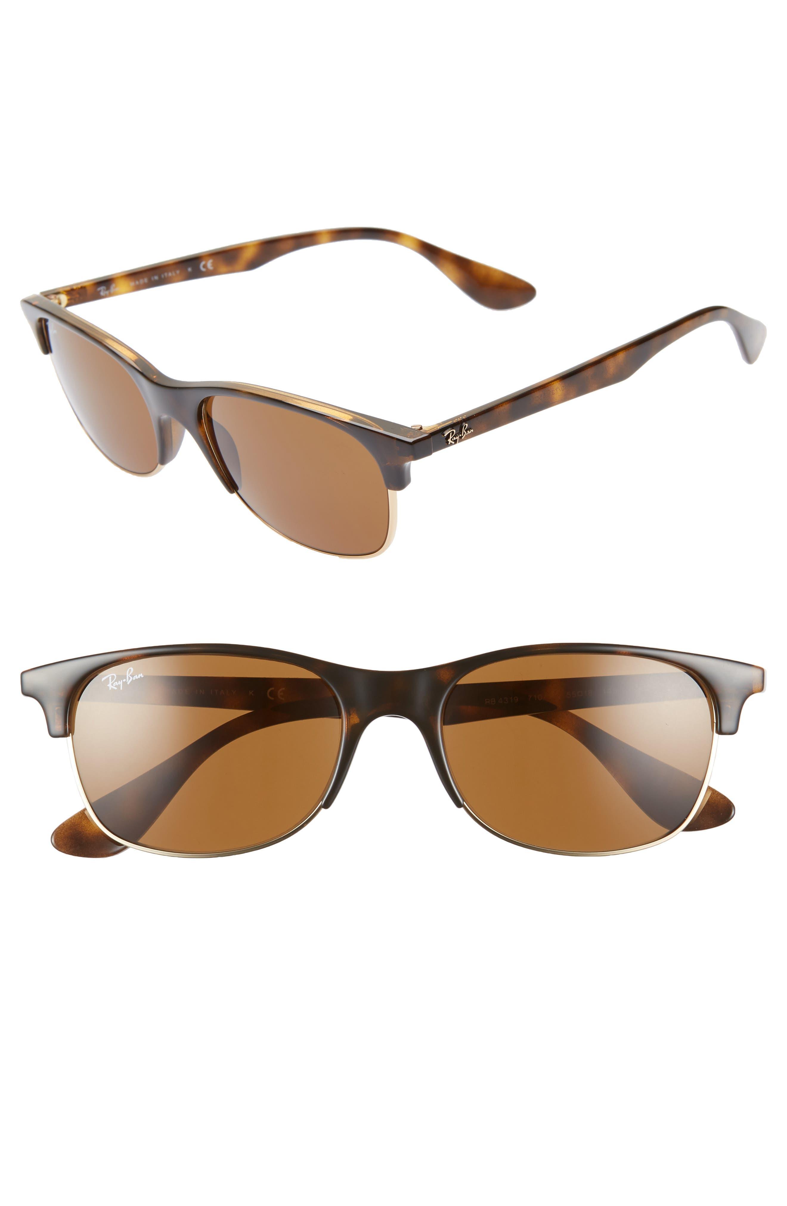 Ray-Ban 55Mm Sunglasses - Havana/ Havana Solid
