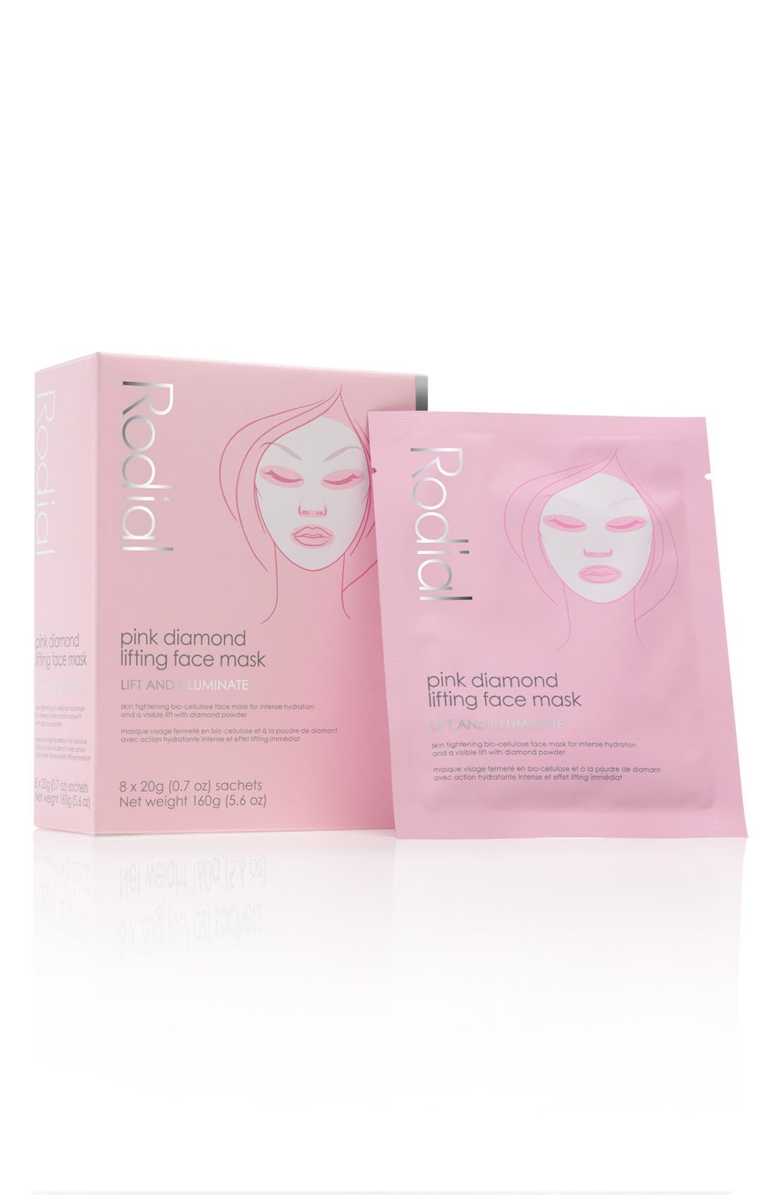 SPACE.NK.apothecary Rodial Pink Diamond Instant Lifting Face Mask,                             Main thumbnail 1, color,                             NO COLOR