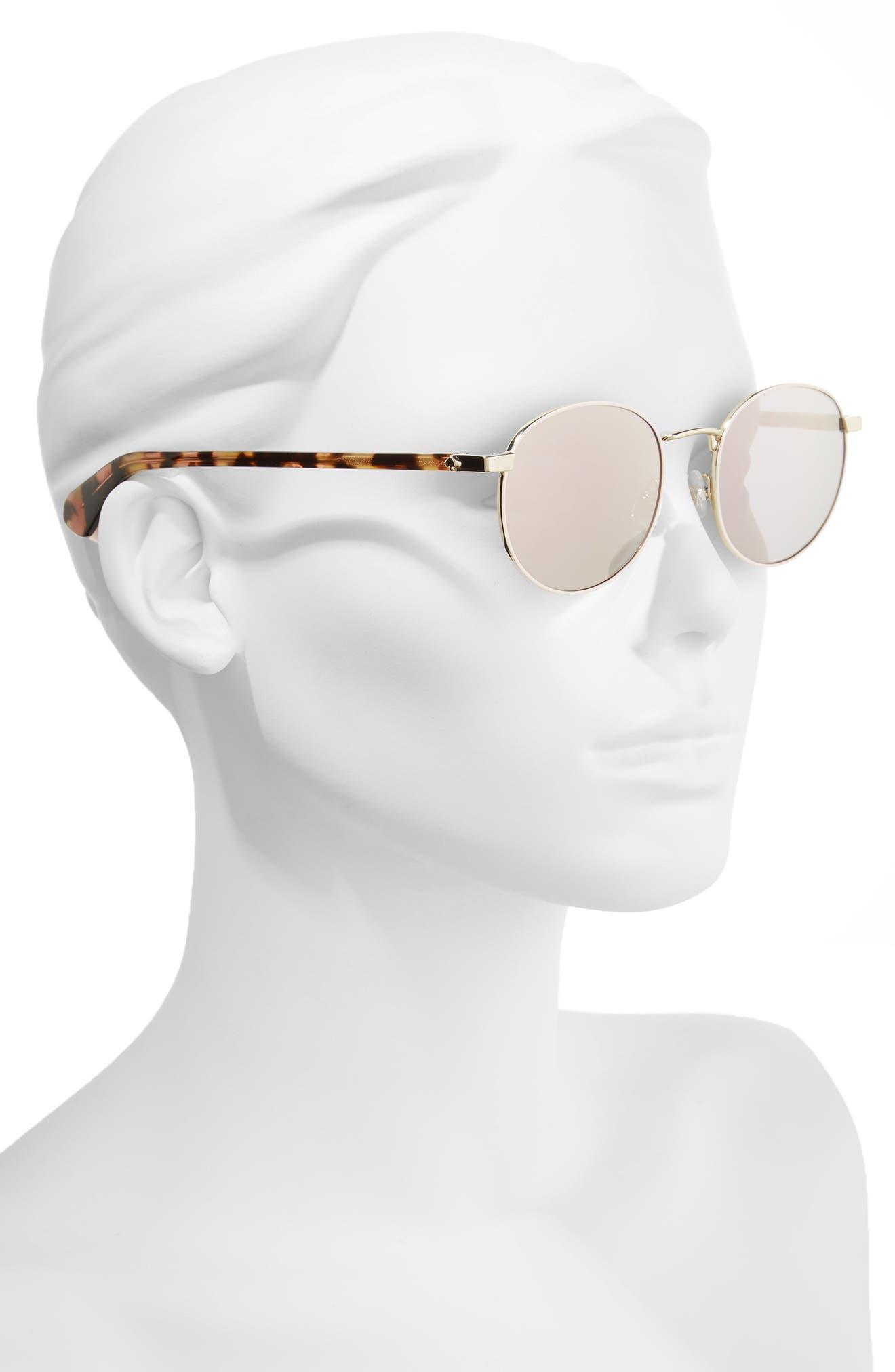 adelais 50mm round sunglasses,                             Alternate thumbnail 8, color,