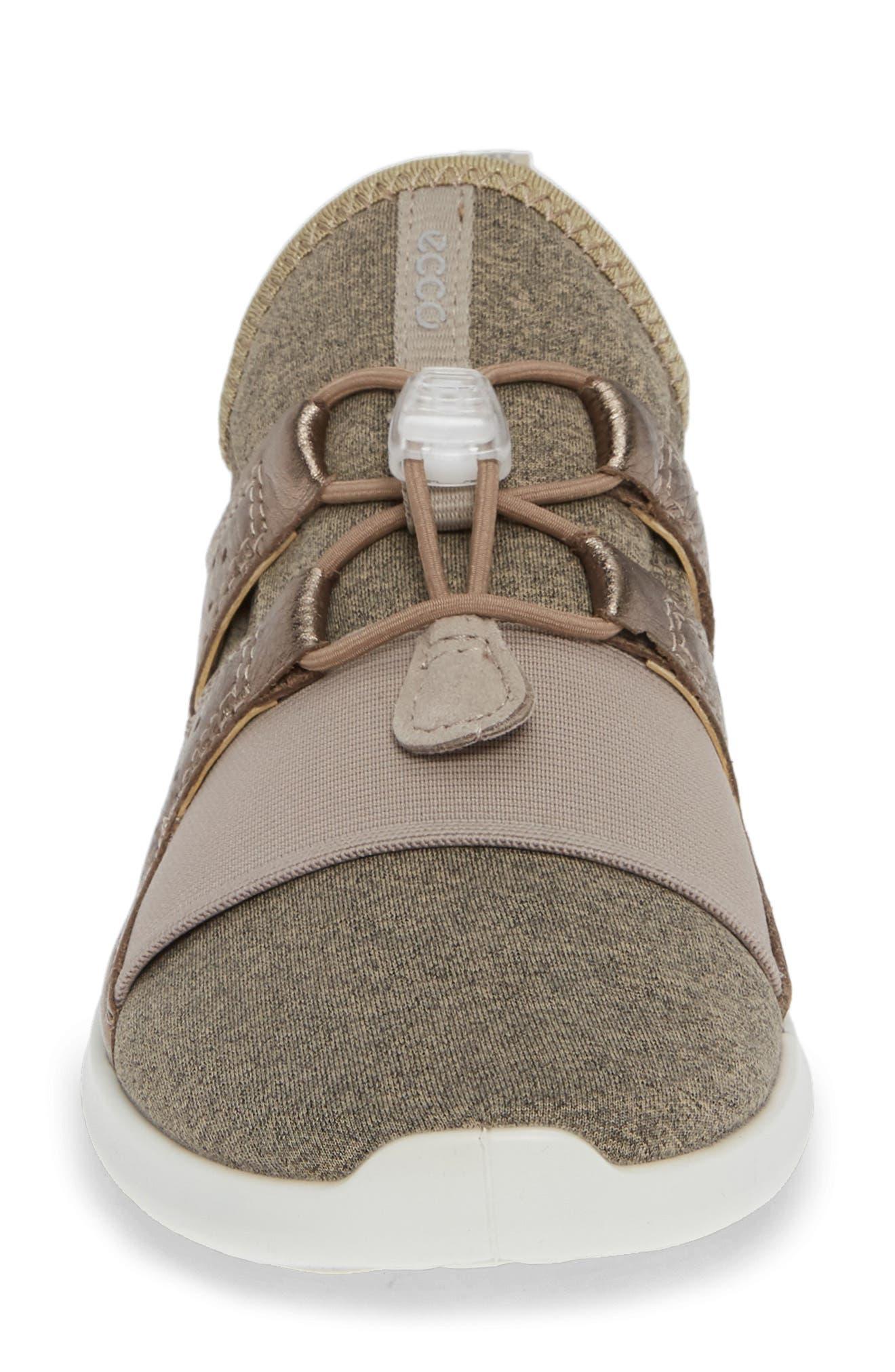 ECCO,                             Sense Toggle Sneaker,                             Alternate thumbnail 4, color,                             METALLIC STONE LEATHER