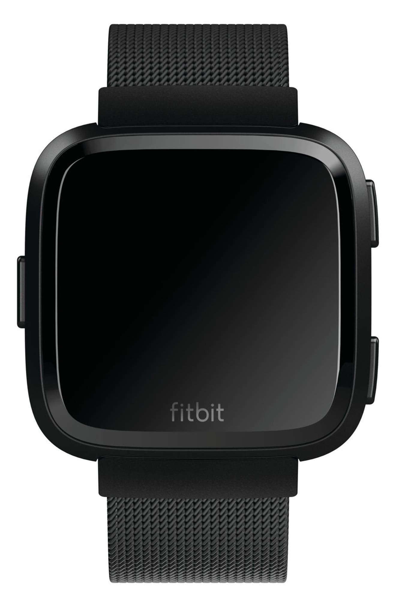 FITBIT,                             Versa Mesh Strap Watch Band,                             Alternate thumbnail 2, color,                             001