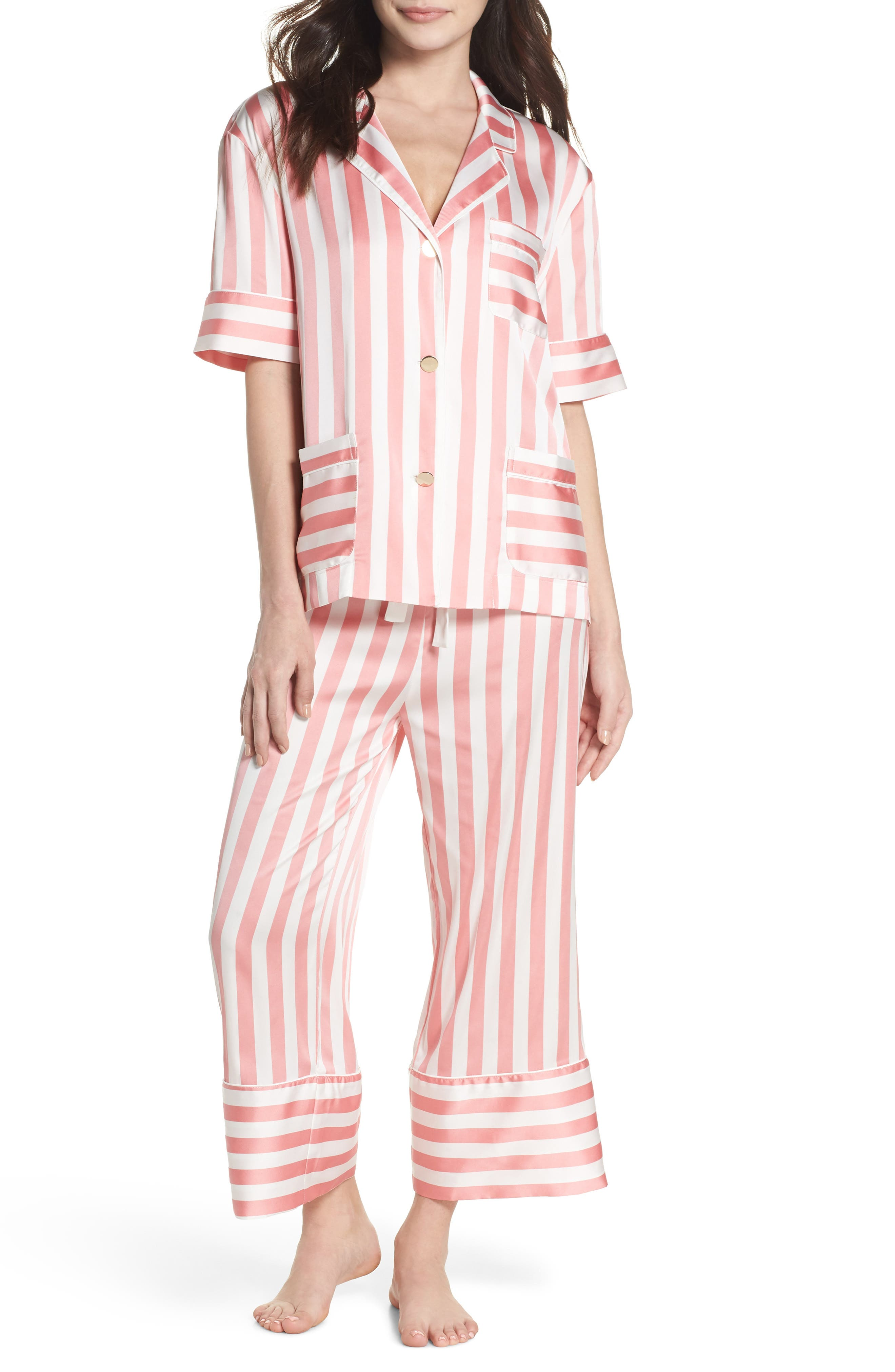 BED TO BRUNCH,                             Cropped Pajamas,                             Main thumbnail 1, color,                             659